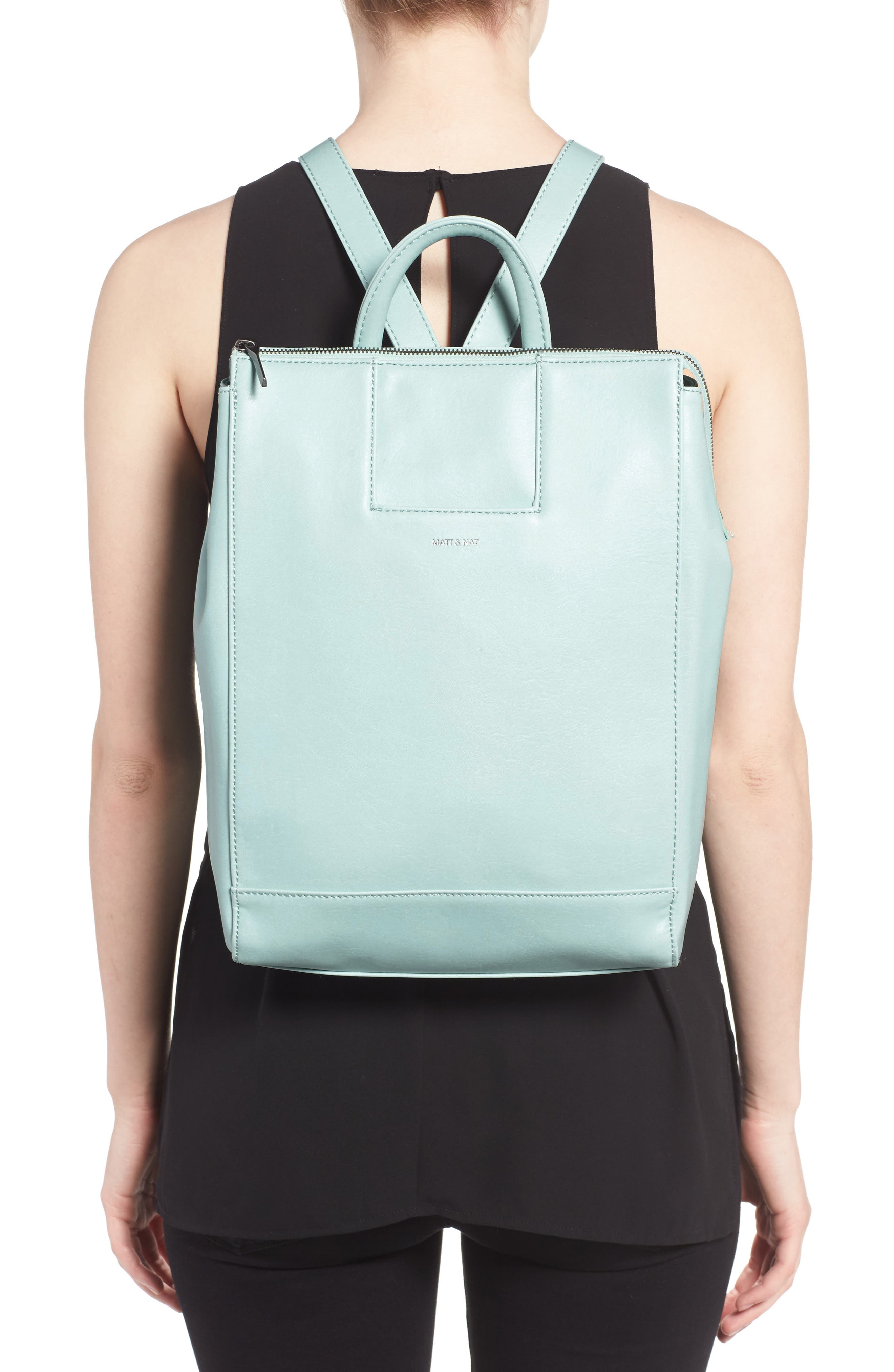 'Katherine' Faux Leather Backpack,                             Alternate thumbnail 12, color,