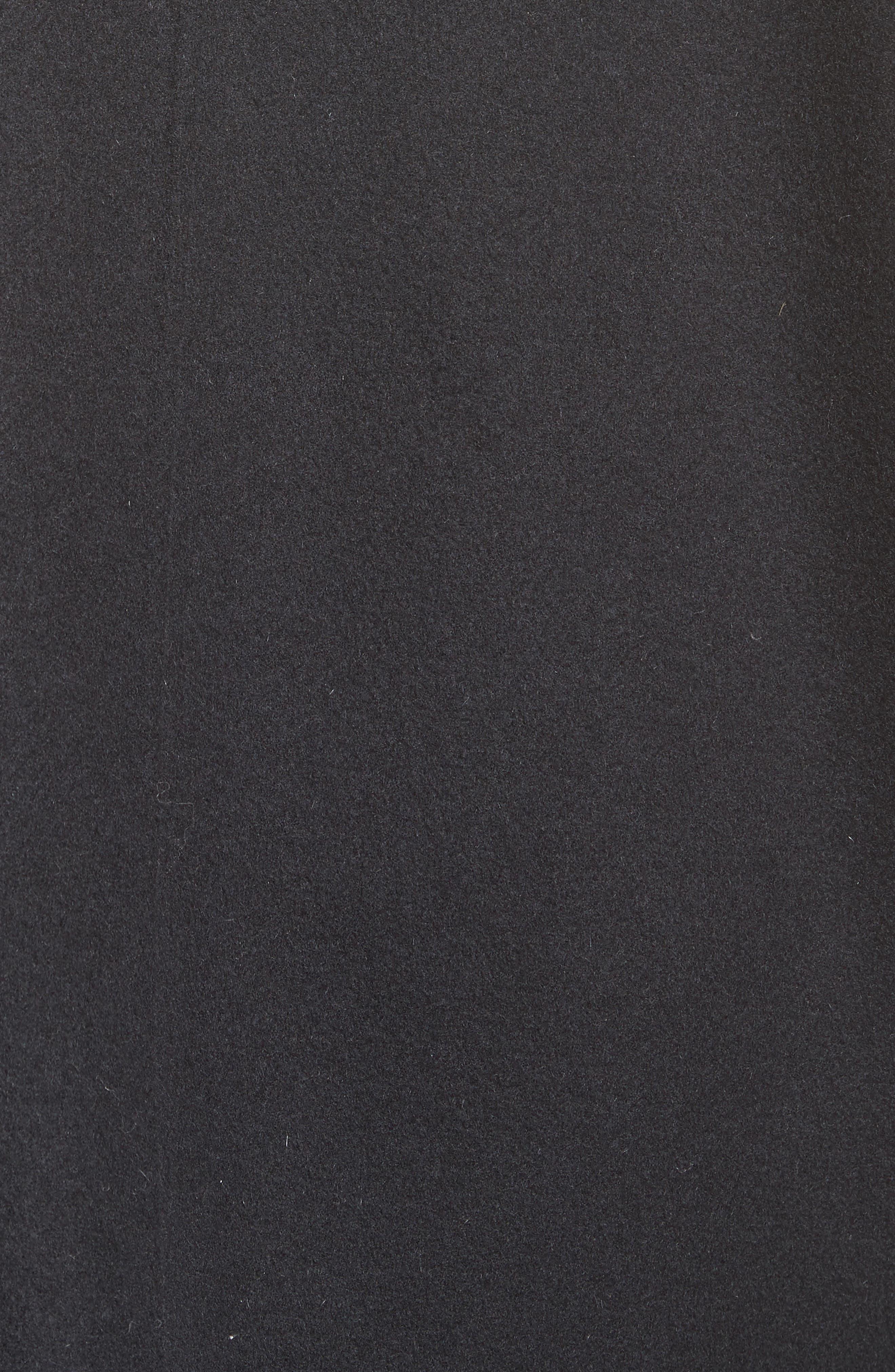 Buxus Wool & Cashmere Coat with Removable Genuine Fox Fur Trim Vest,                             Alternate thumbnail 6, color,                             001