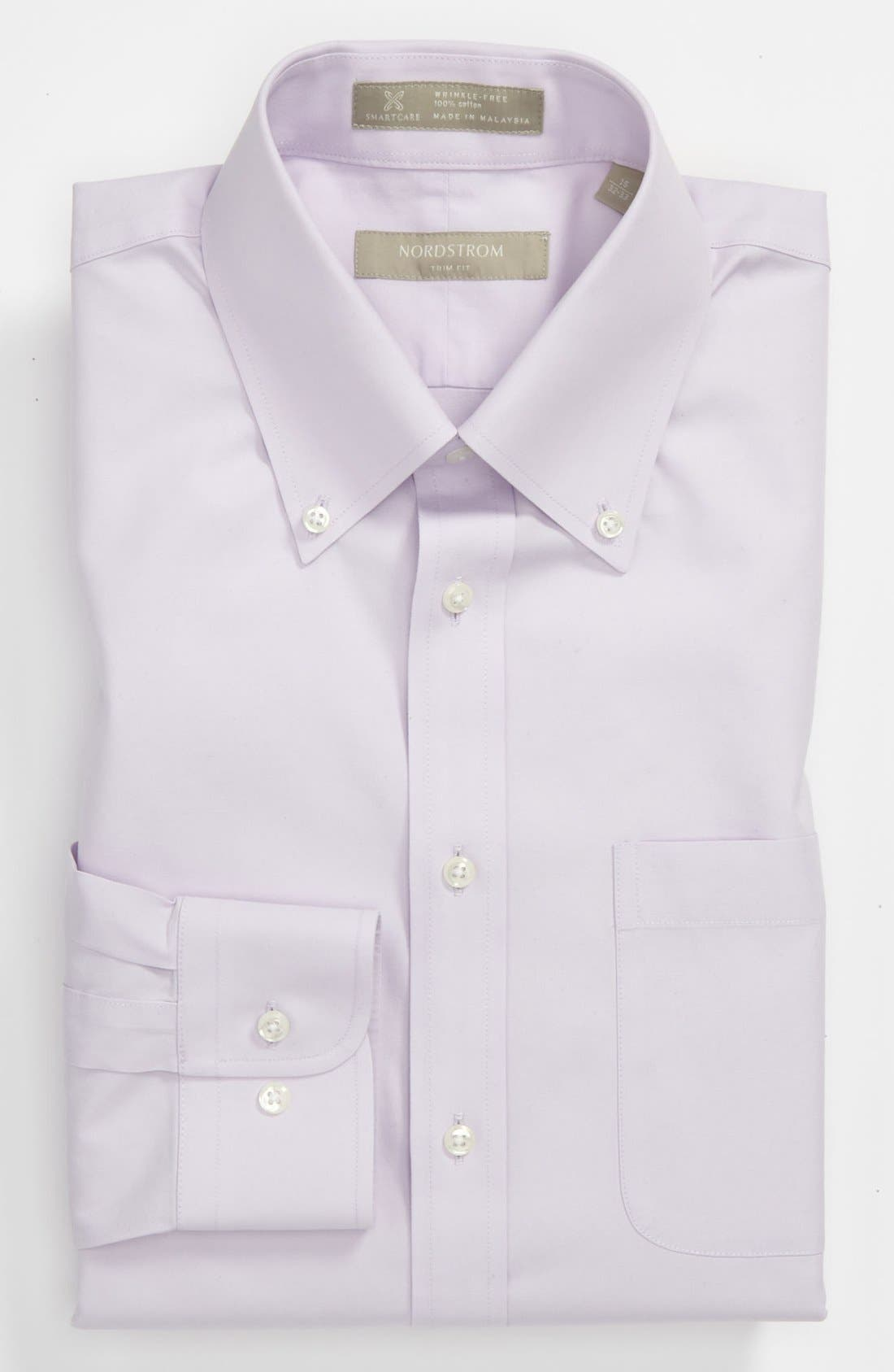Smartcare<sup>™</sup> Trim Fit Solid Dress Shirt,                             Main thumbnail 15, color,