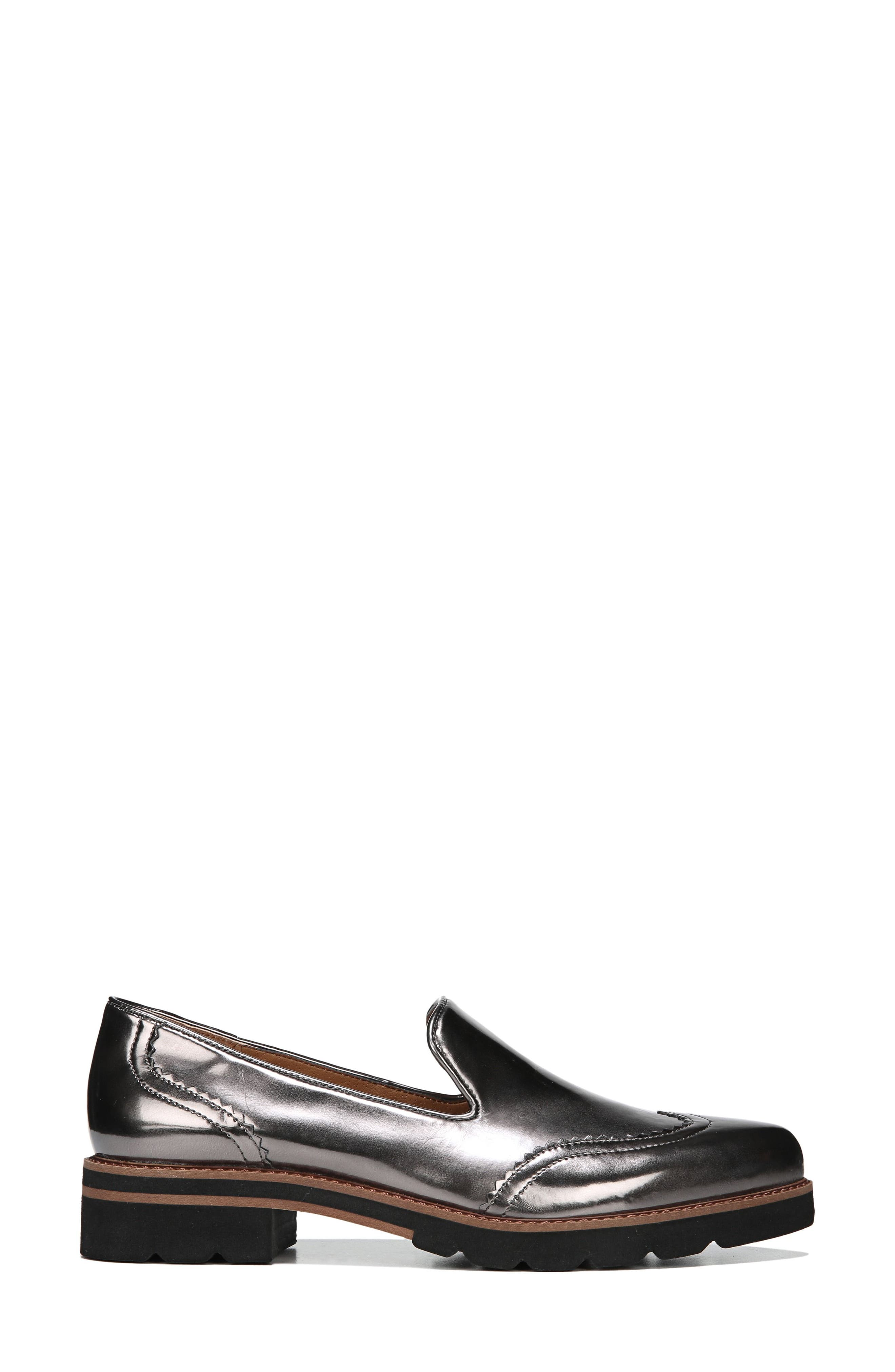 Betsy Loafer,                             Alternate thumbnail 3, color,                             GUNMETAL FAUX PATENT SUEDE