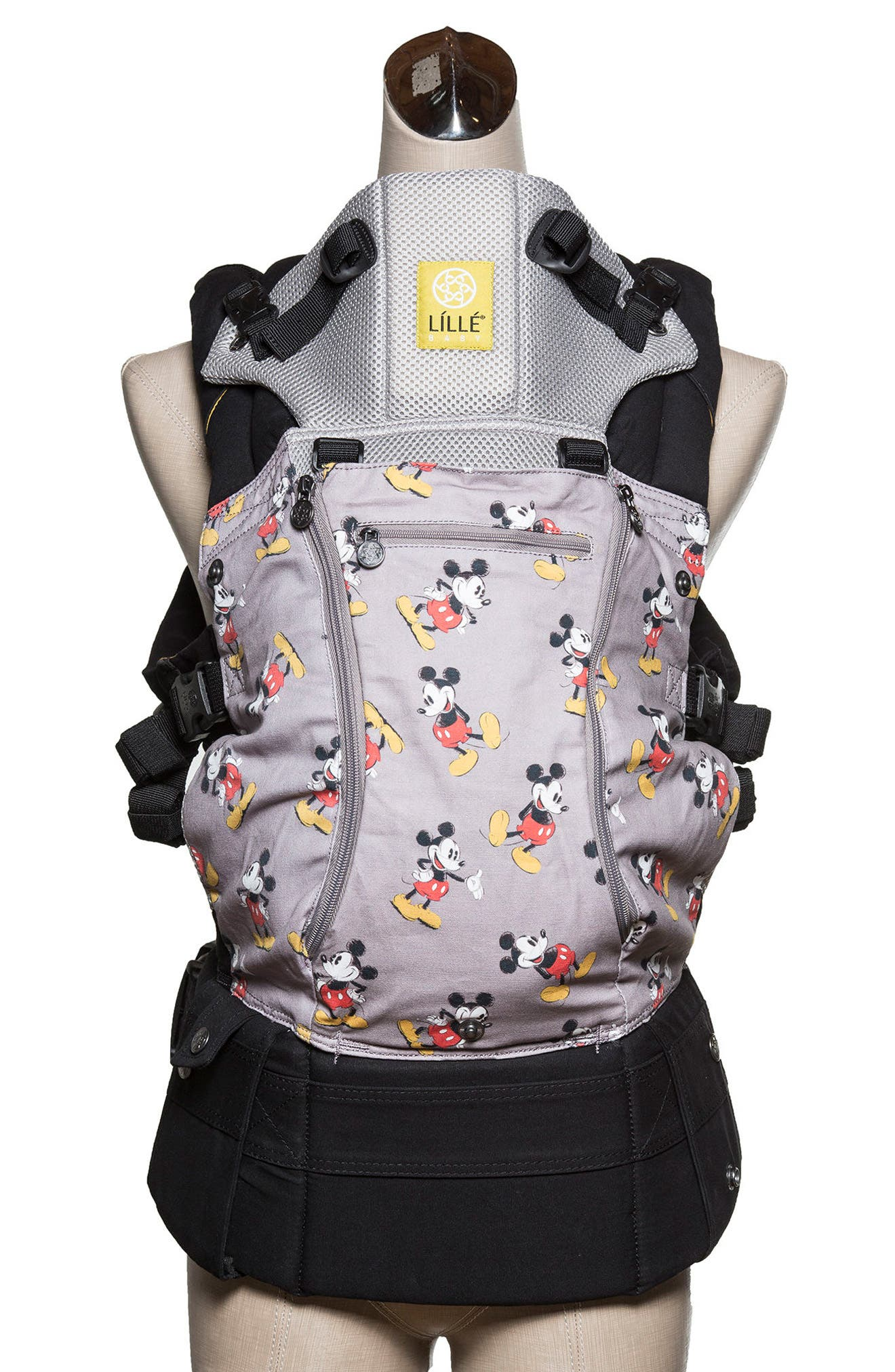 x Disney<sup>®</sup> Complete Airflow - Mickey Mouse Classic Baby Carrier,                             Main thumbnail 1, color,                             BLACK