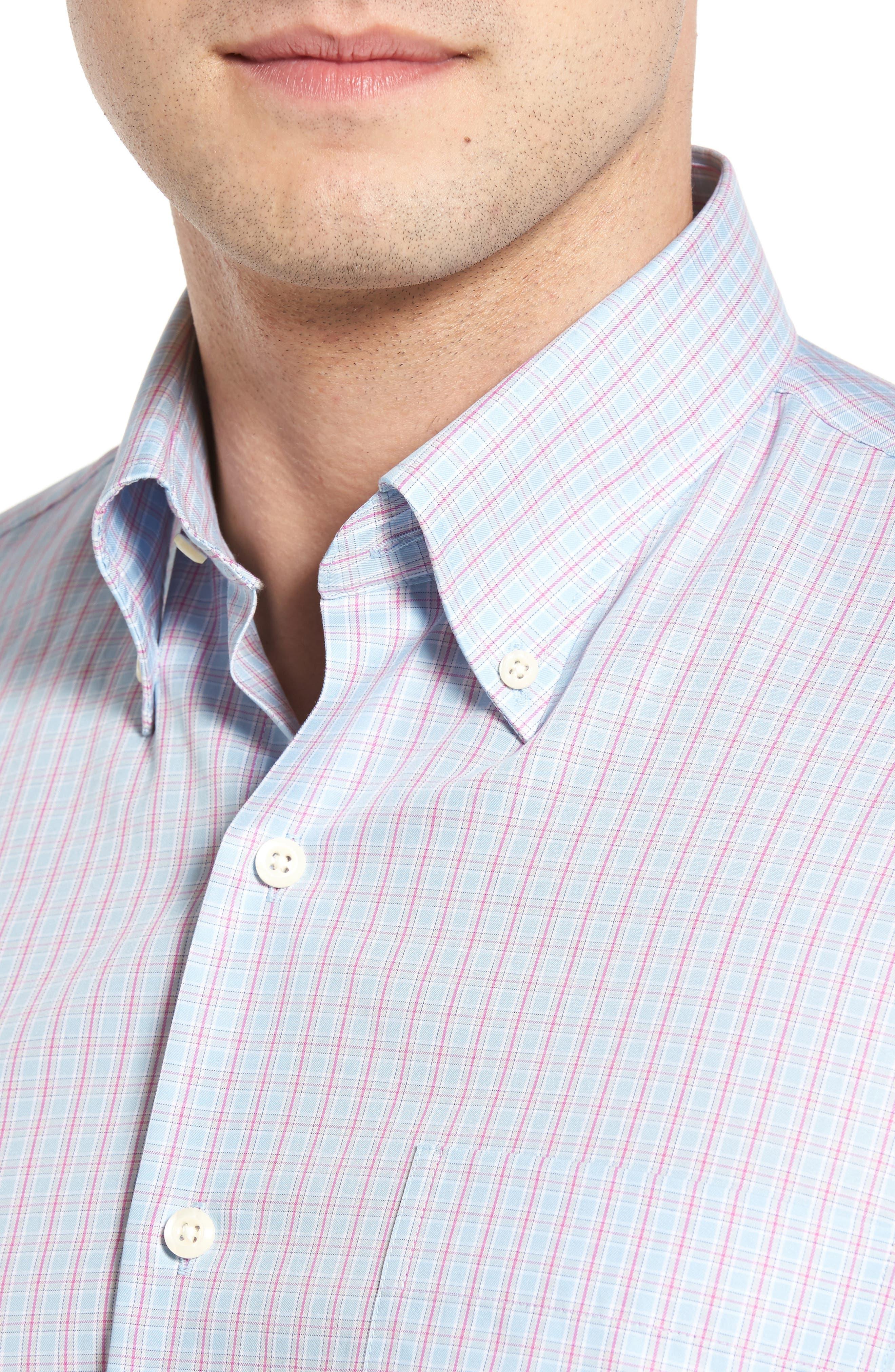 Temple Regular Fit Check Sport Shirt,                             Alternate thumbnail 4, color,                             453