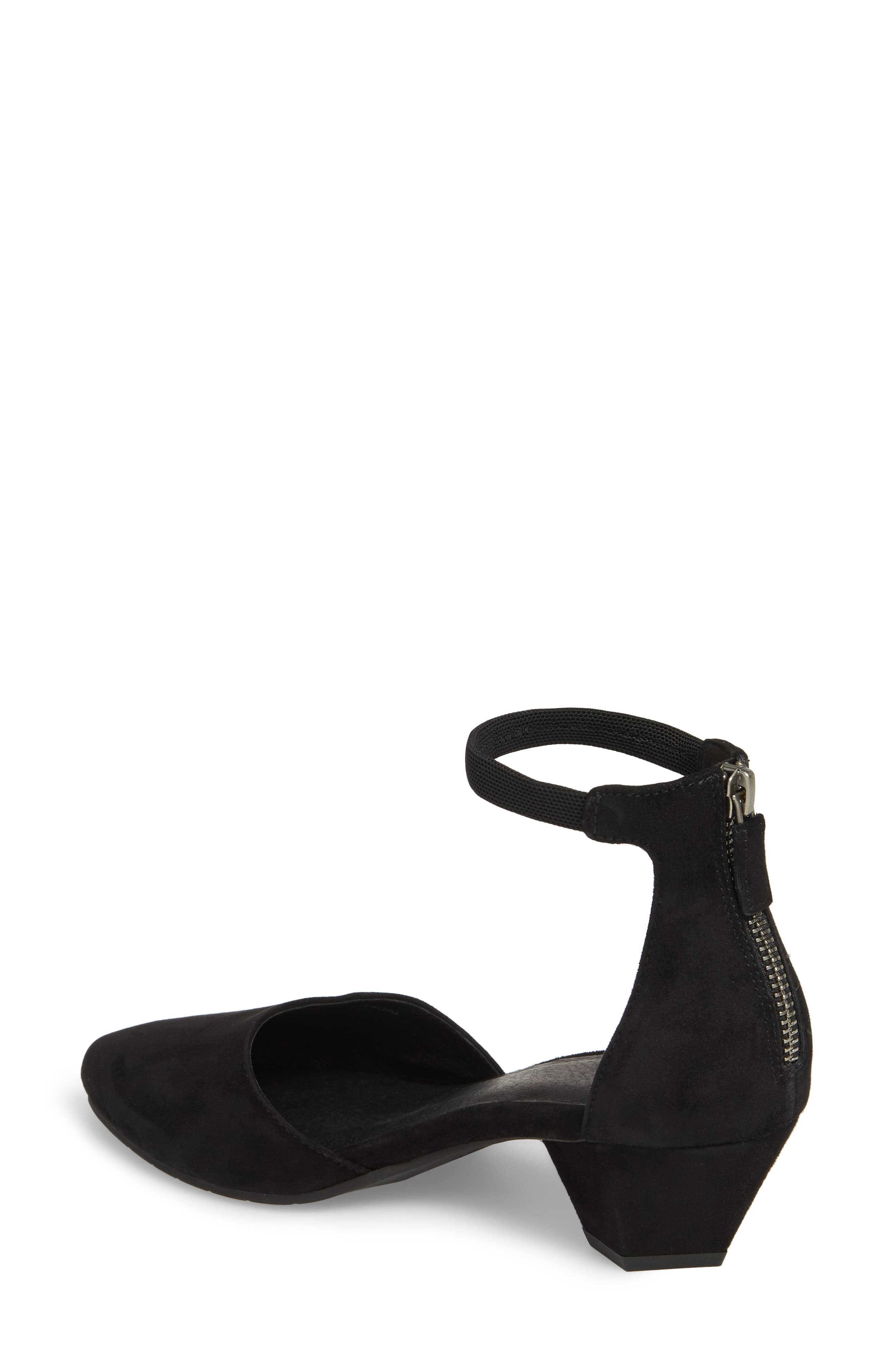 Just Open Sided Pump,                             Alternate thumbnail 2, color,                             BLACK SUEDE
