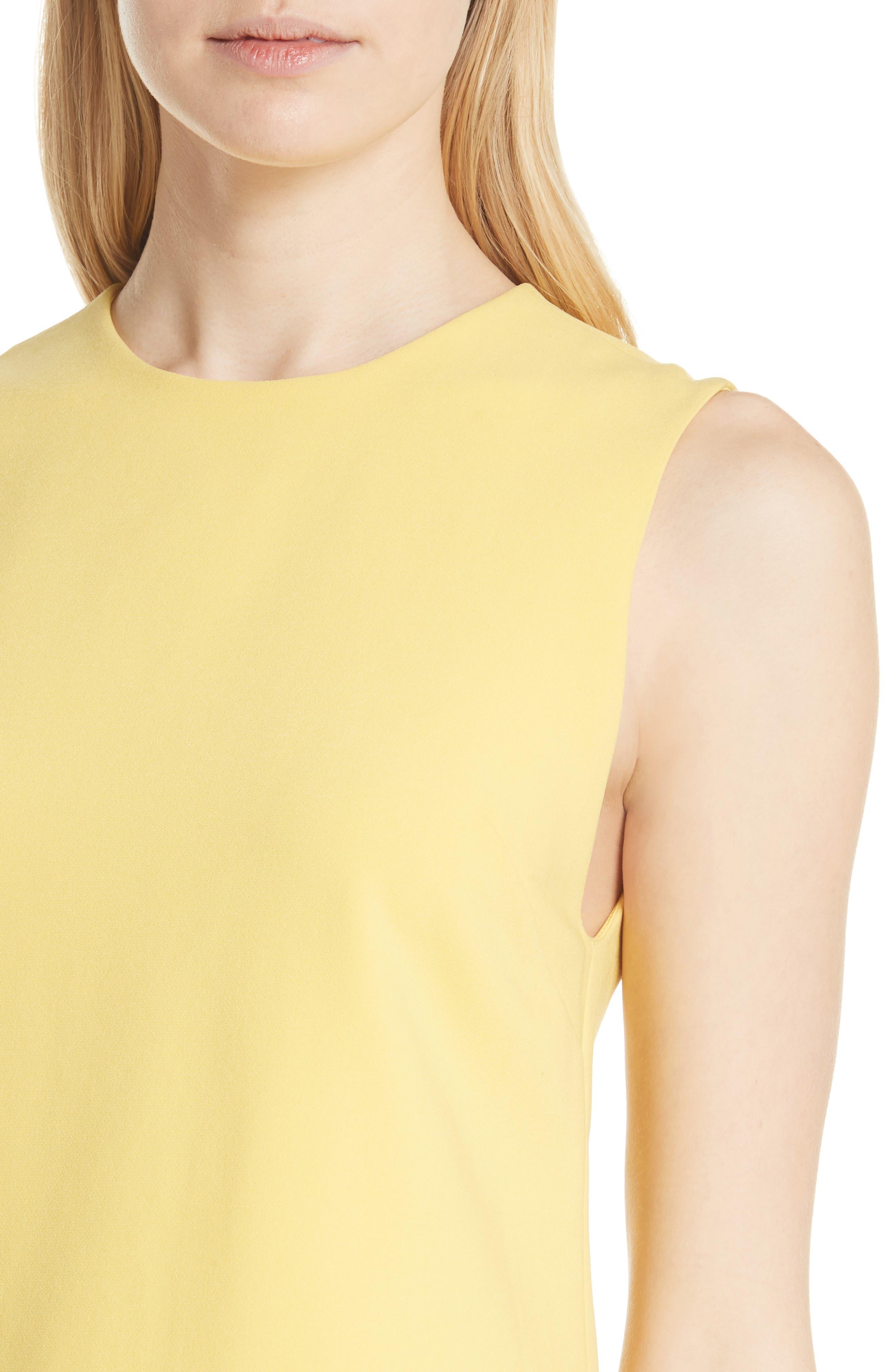 Coley A-Line Dress,                             Alternate thumbnail 4, color,                             LEMON