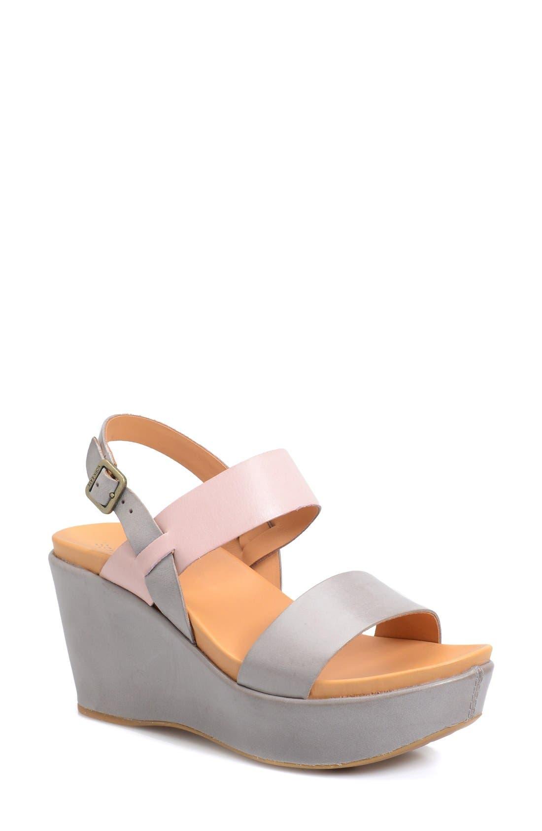 'Austin' Slingback Wedge Sandal,                             Main thumbnail 3, color,