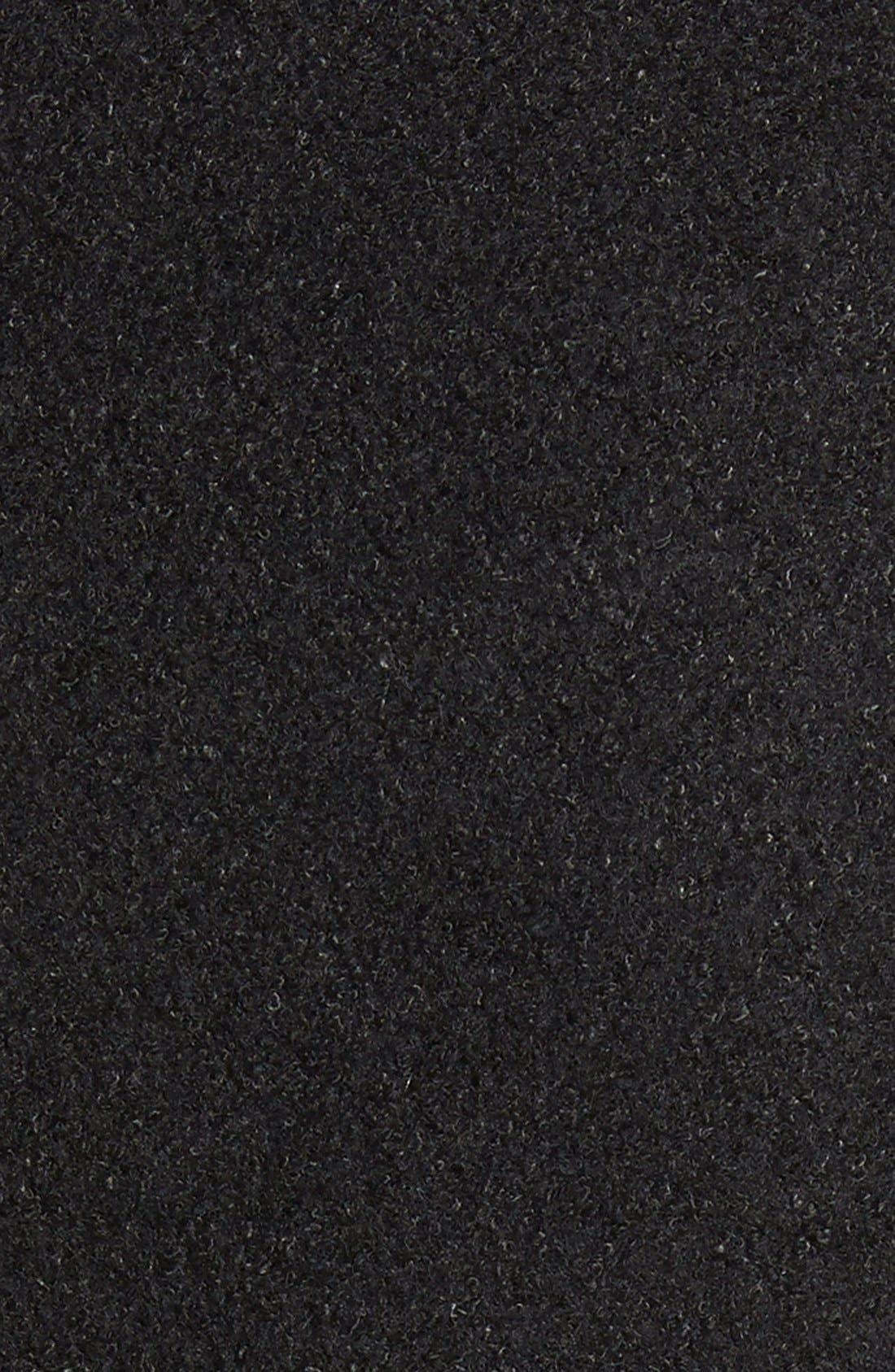 Single Breasted Ruffle Hem Coat,                             Alternate thumbnail 8, color,                             001