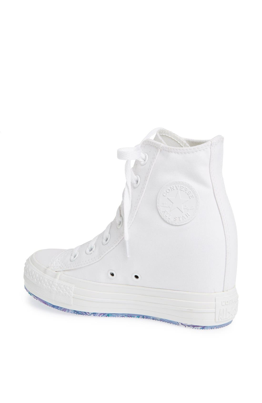 Chuck Taylor<sup>®</sup> All Star<sup>®</sup> 'Platform Plus' Hidden Wedge High-Top Sneaker,                             Alternate thumbnail 4, color,                             100