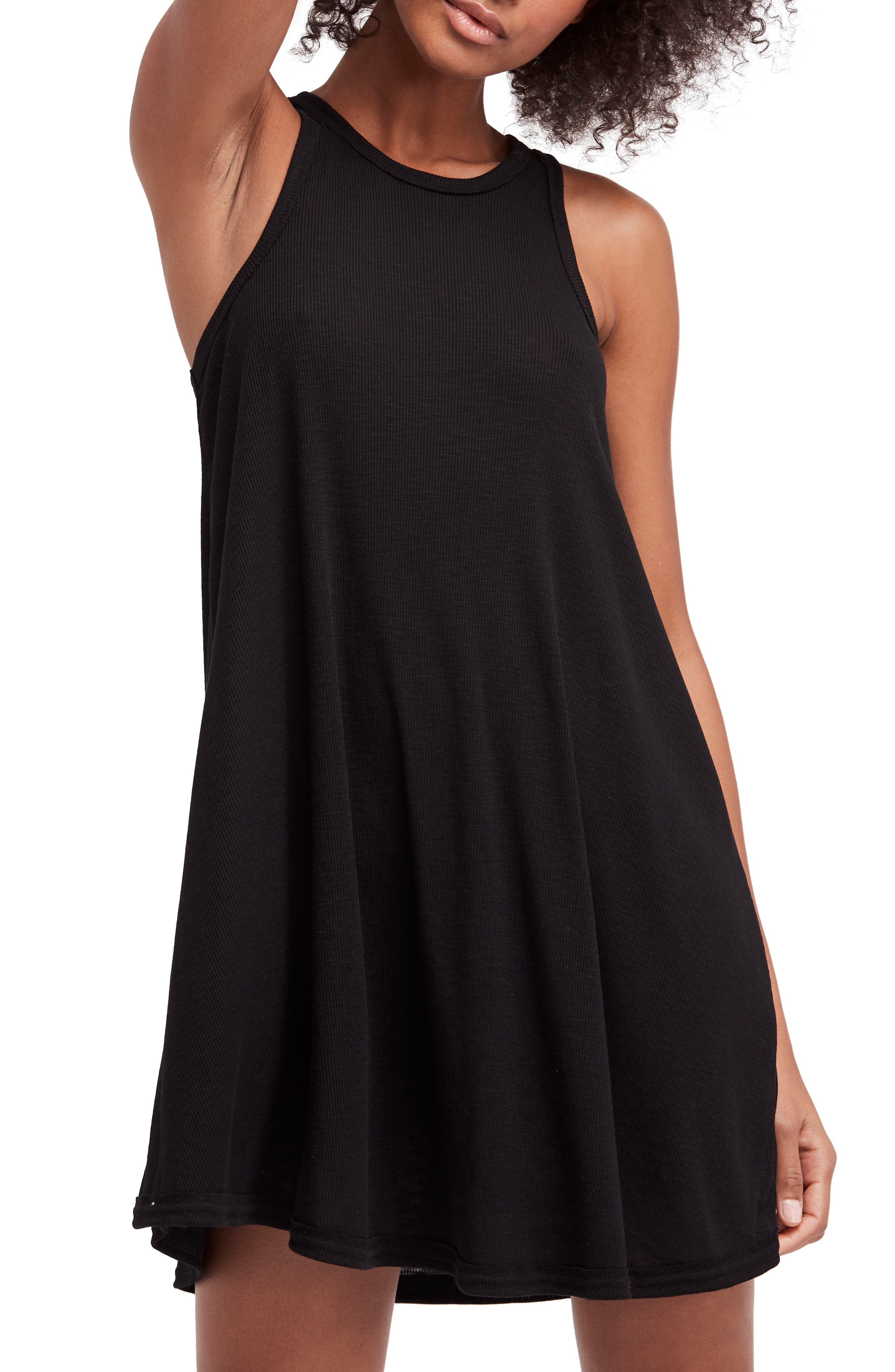 LA Nite Tank Dress,                             Alternate thumbnail 5, color,                             001