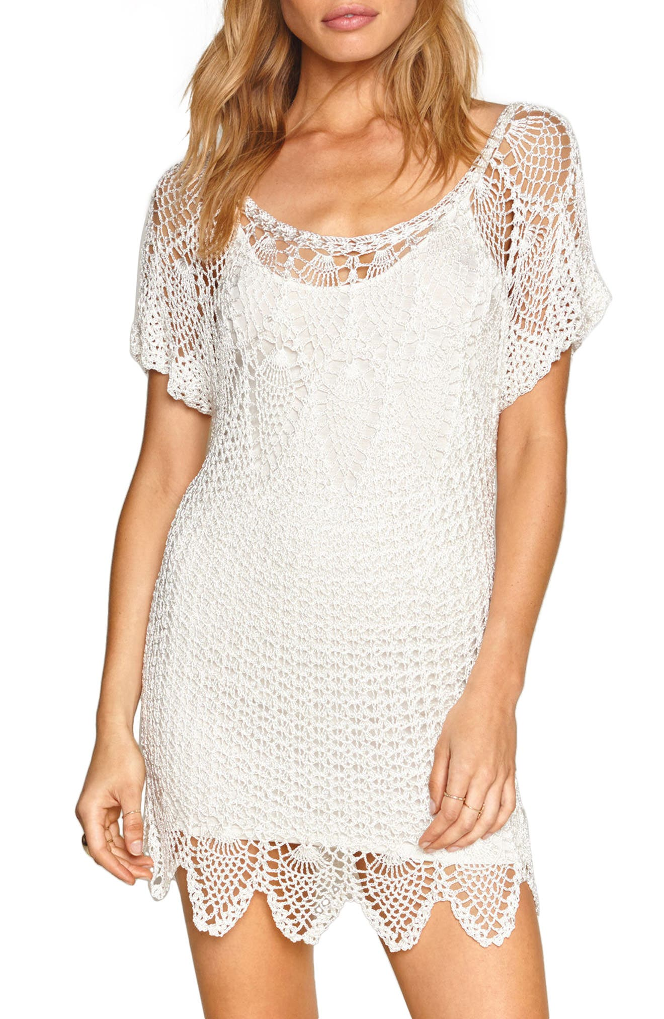 Amuse Sociey Honora Crochet Dress,                         Main,                         color,