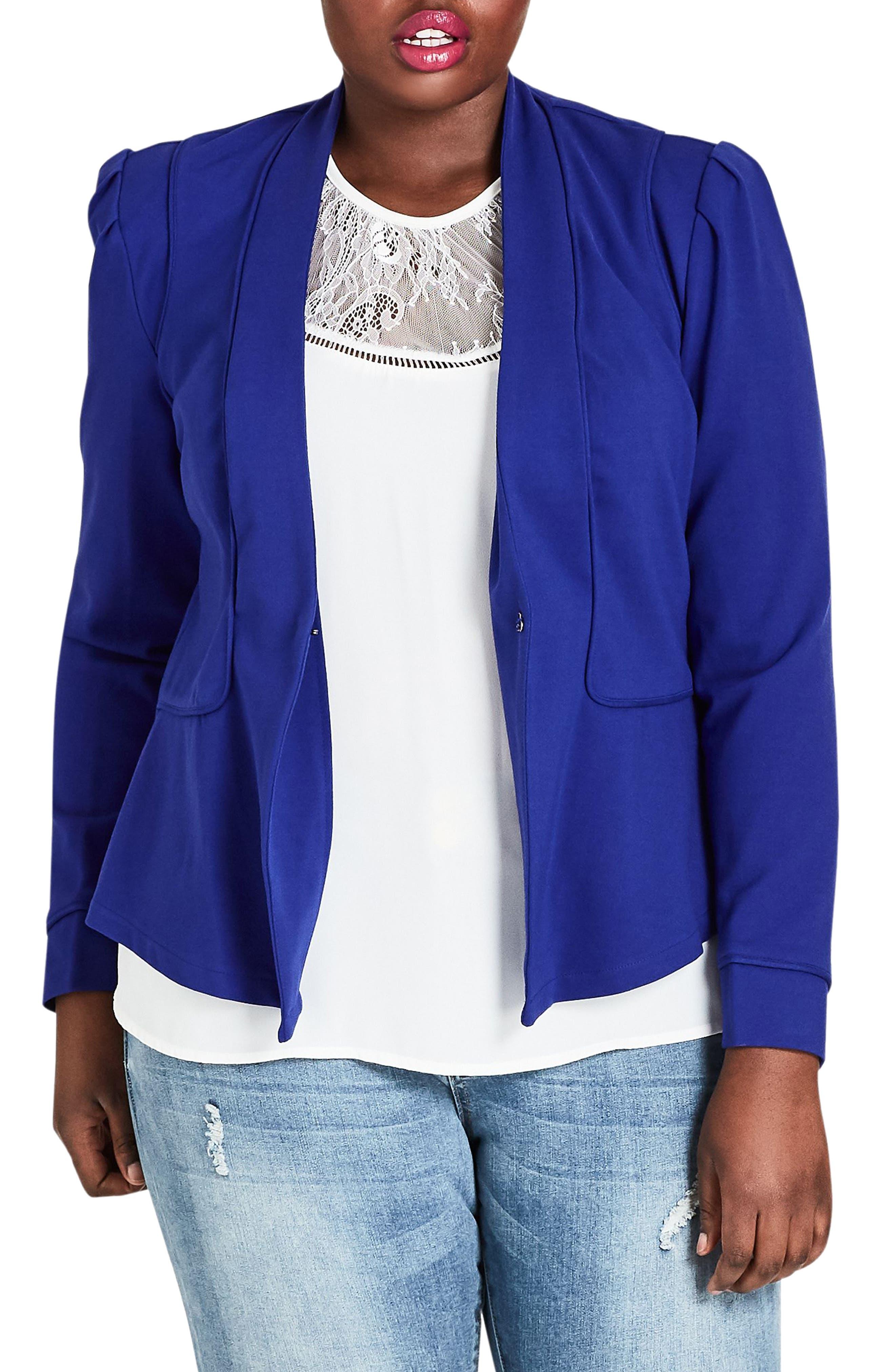 Piping Praise Jacket,                         Main,                         color, LAGOON