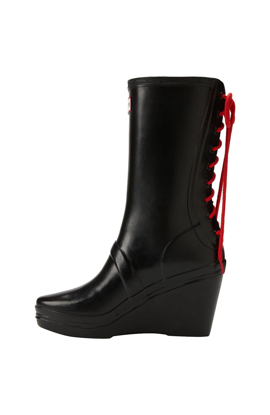 HUNTER,                             'Verbier' Rain Boot,                             Alternate thumbnail 4, color,                             001