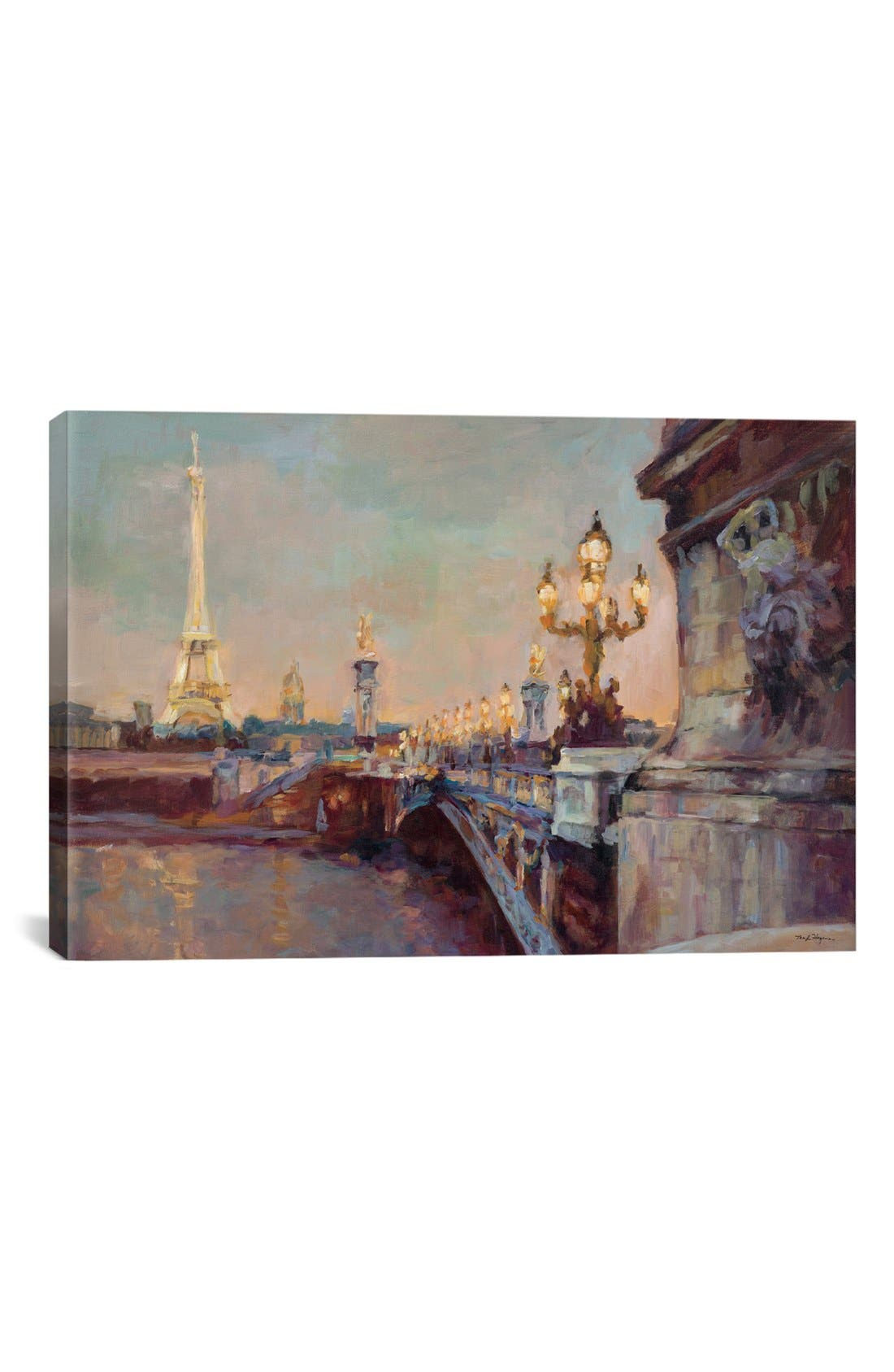 'Parisian Evening' Giclée Print Canvas Art,                             Main thumbnail 1, color,                             020