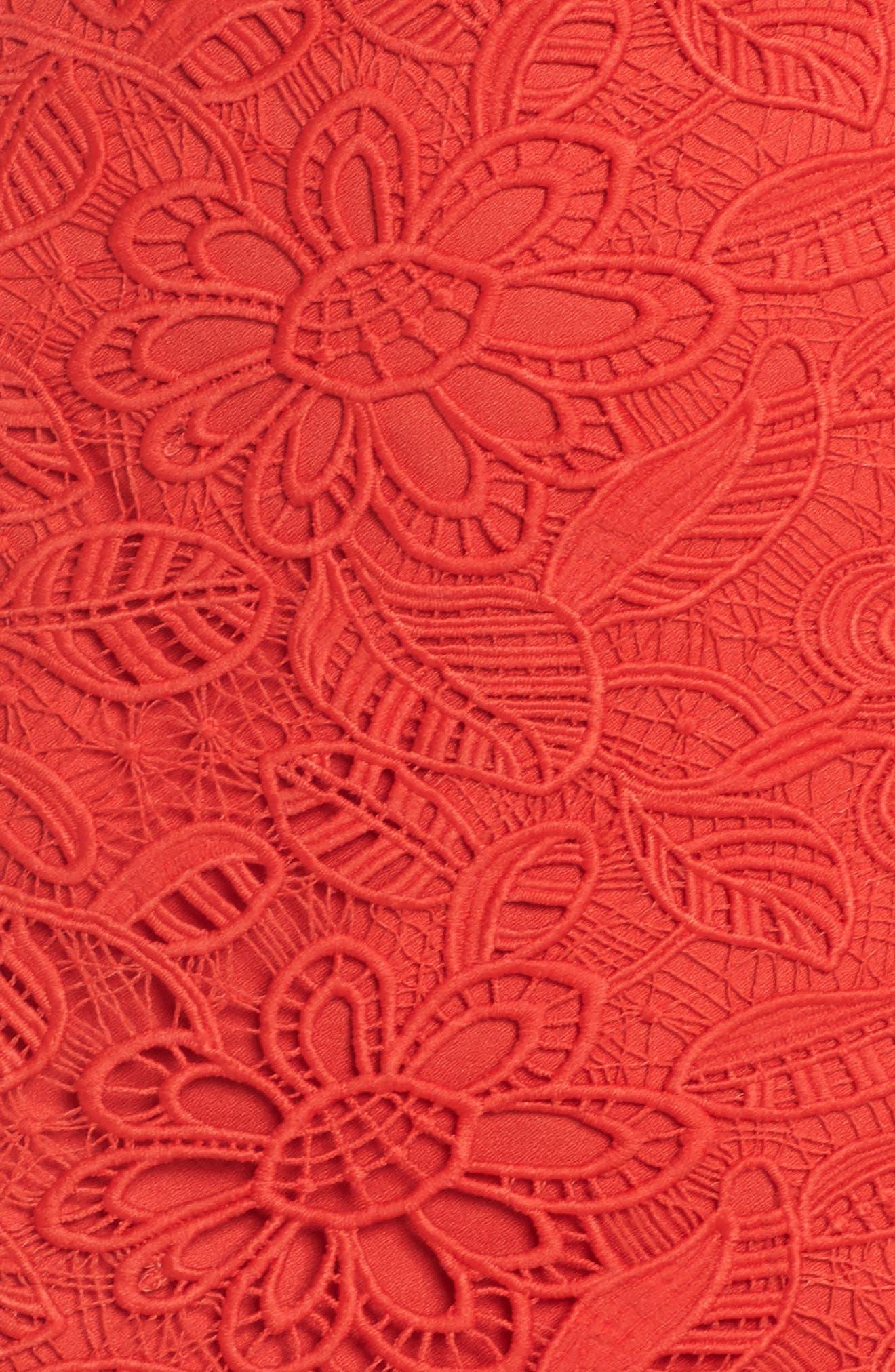 Asymmetrical Hem Lace Dress,                             Alternate thumbnail 6, color,                             600