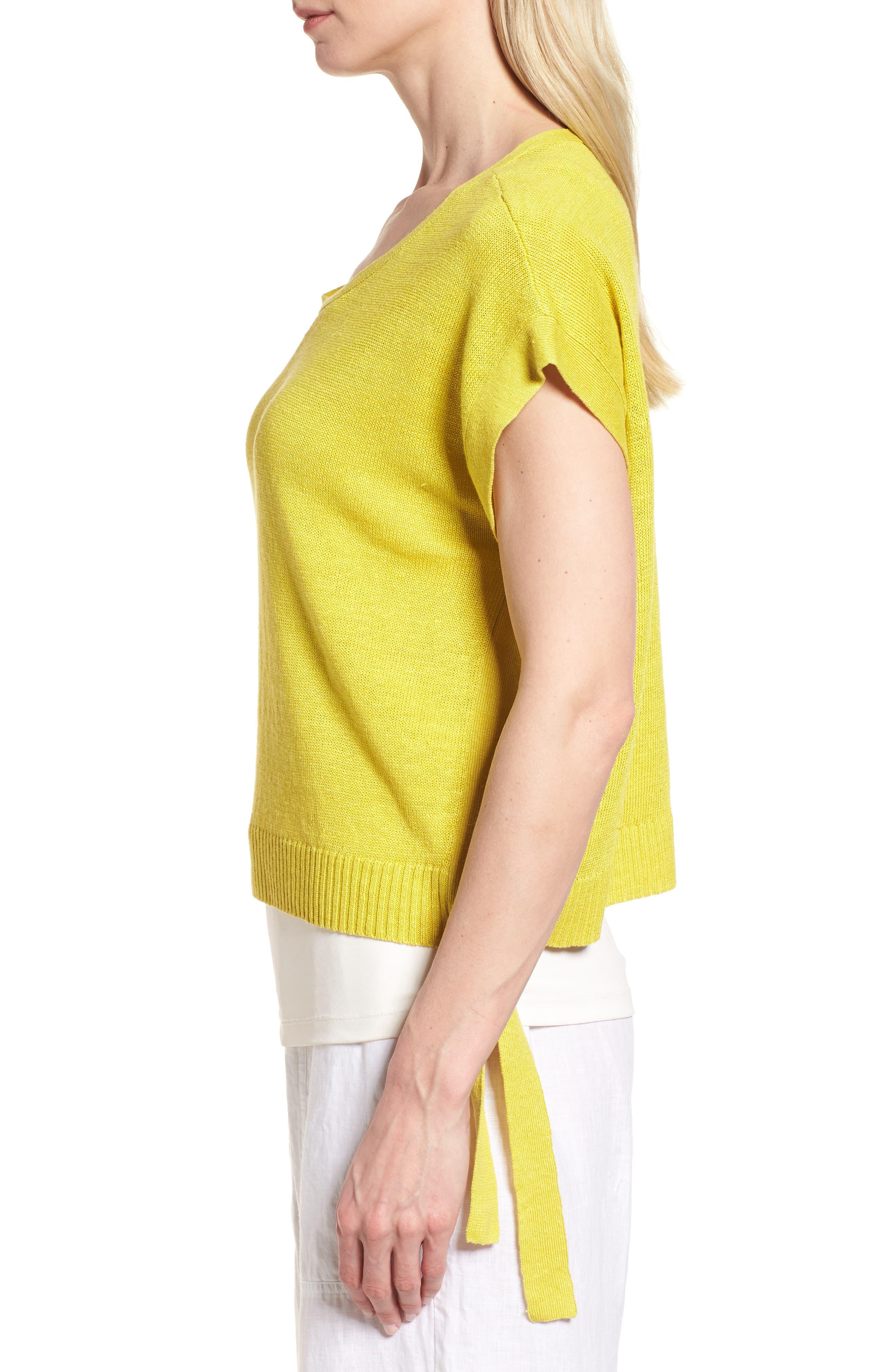 Short Organic Linen Poncho Top,                             Alternate thumbnail 16, color,