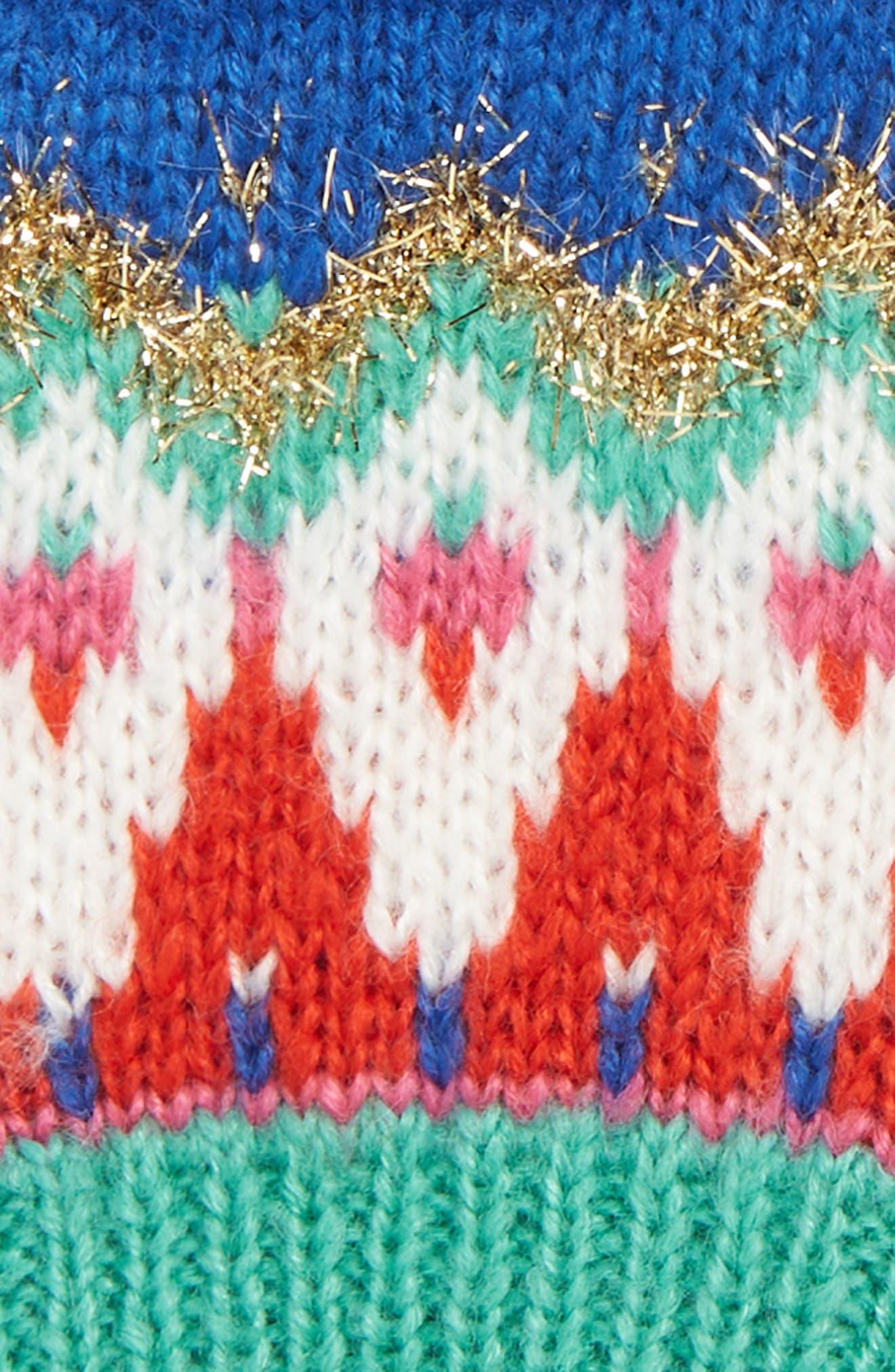 Fair Isle Sparkle Gloves,                             Alternate thumbnail 2, color,                             424