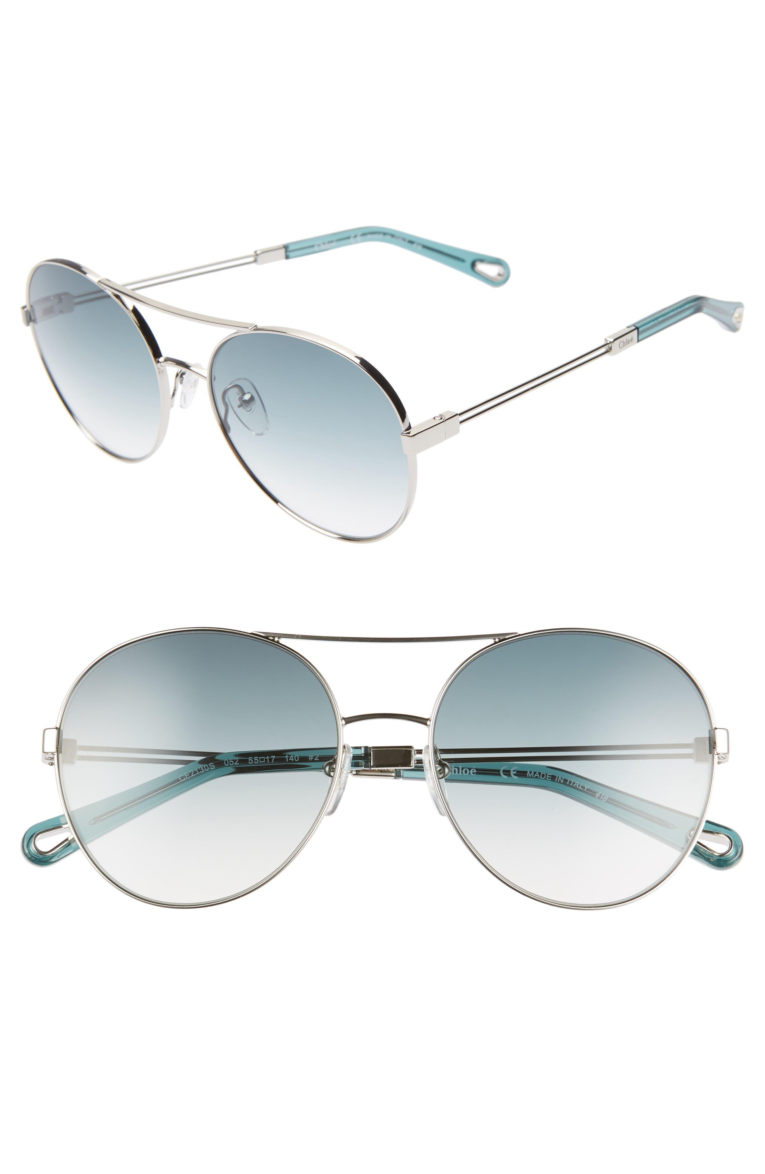 Jacky 55mm Gradient Aviator Sunglasses by ChloÉ