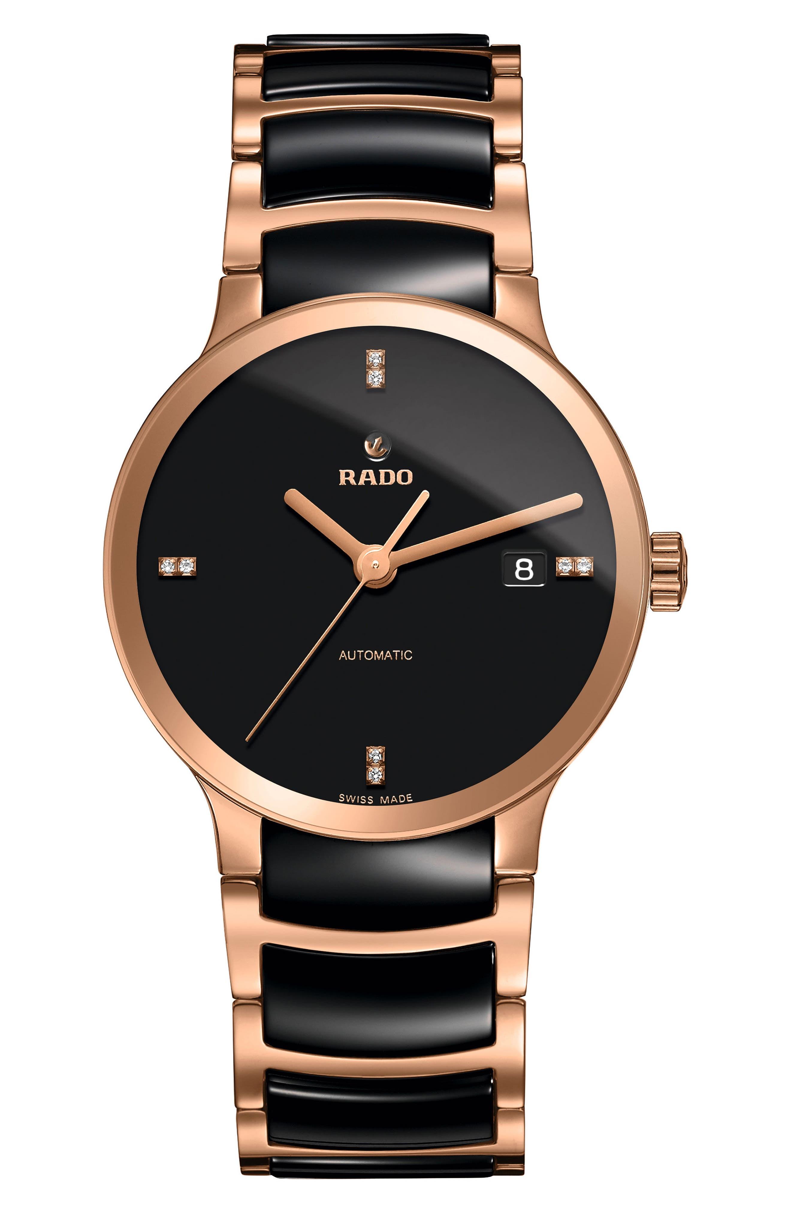 Centrix Automatic Diamond Ceramic Bracelet Watch, 38mm,                             Main thumbnail 1, color,                             001