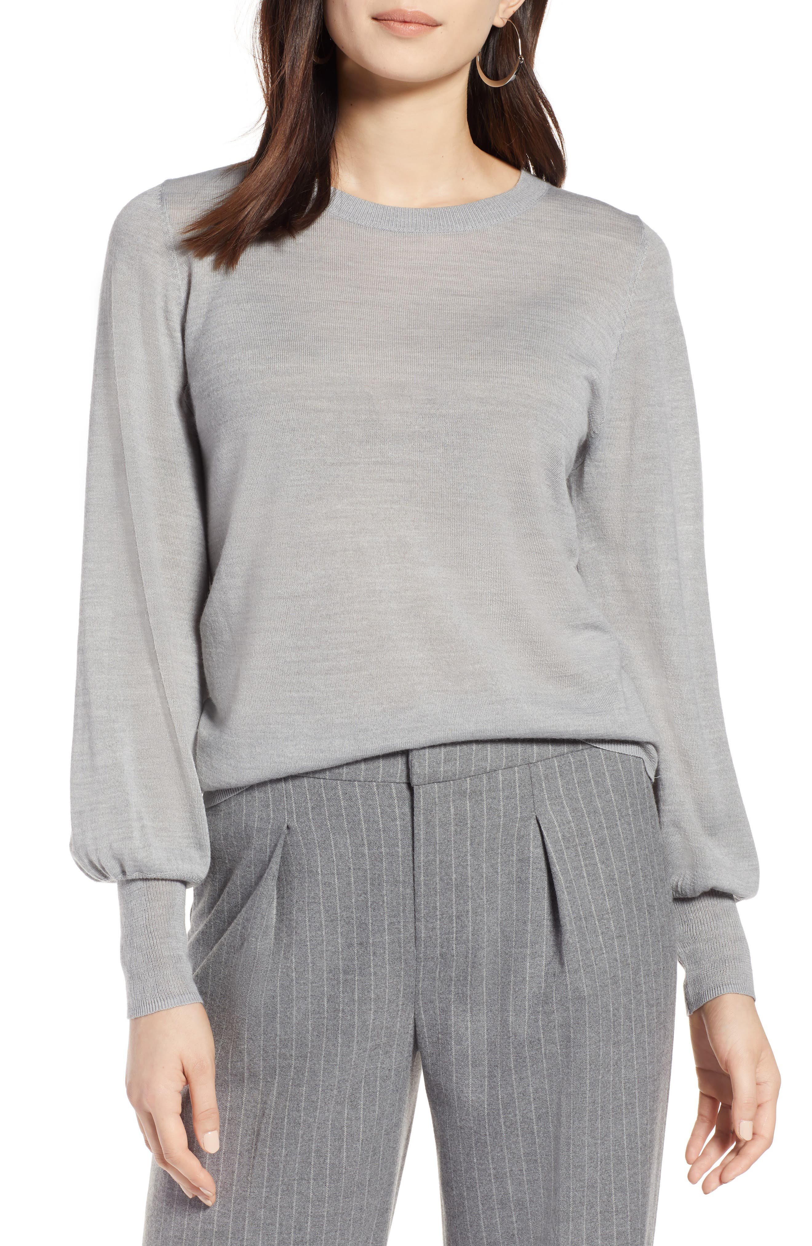Puff Sleeve Sweater,                             Main thumbnail 3, color,