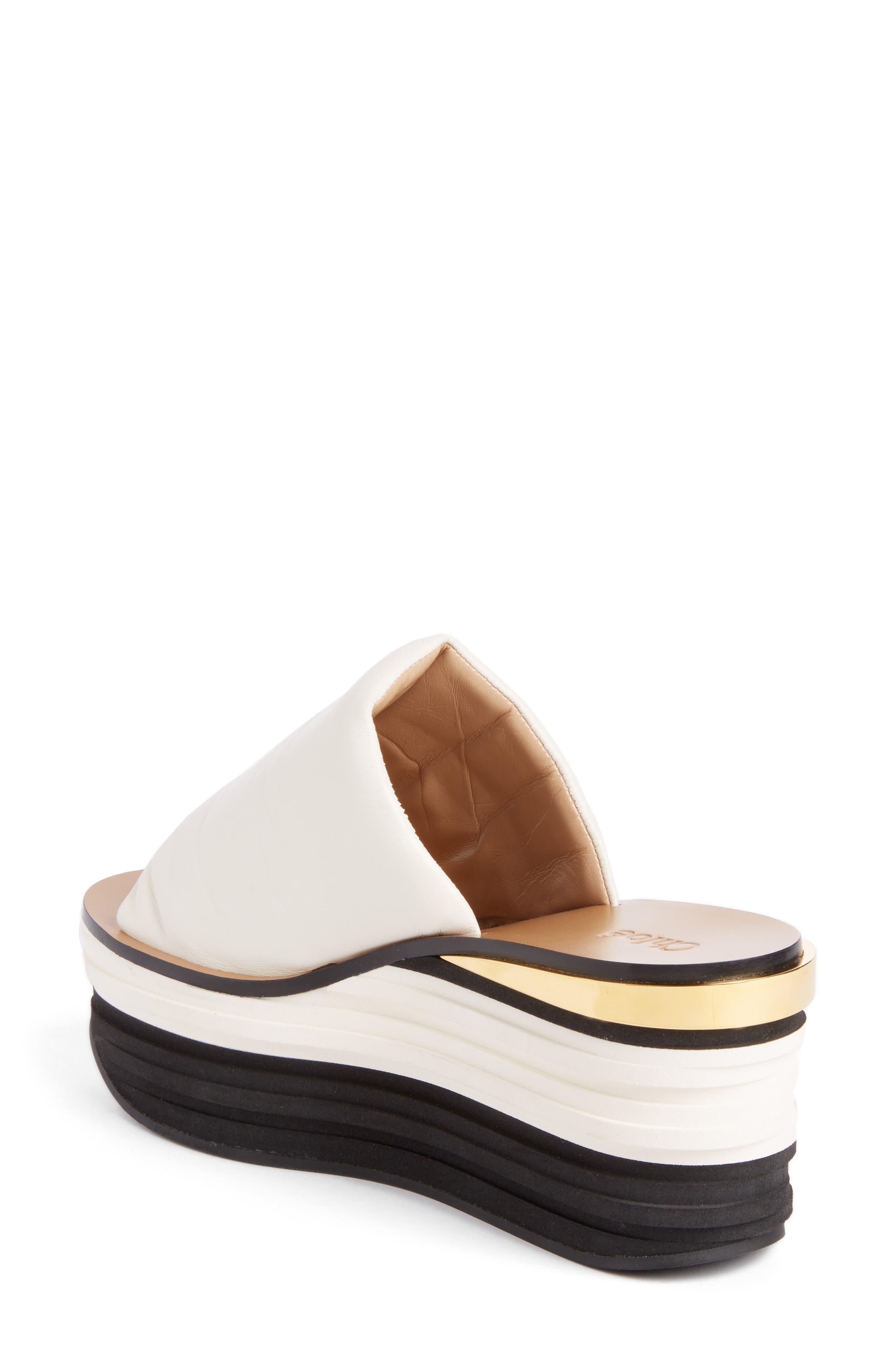 Camille Platform Sandal,                             Alternate thumbnail 2, color,                             WHITE
