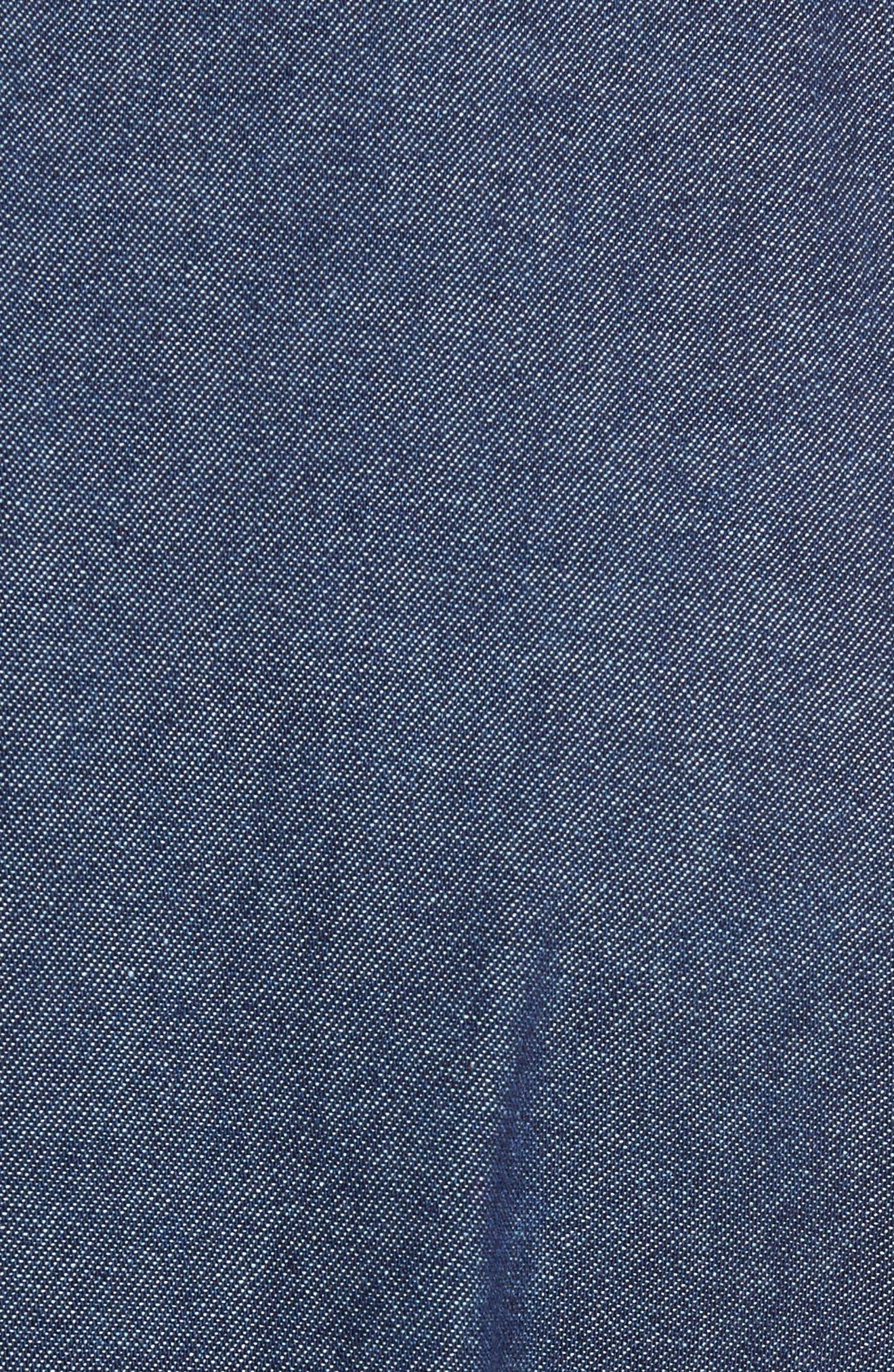 Indigo Long Sleeve Shirt,                             Alternate thumbnail 5, color,                             401