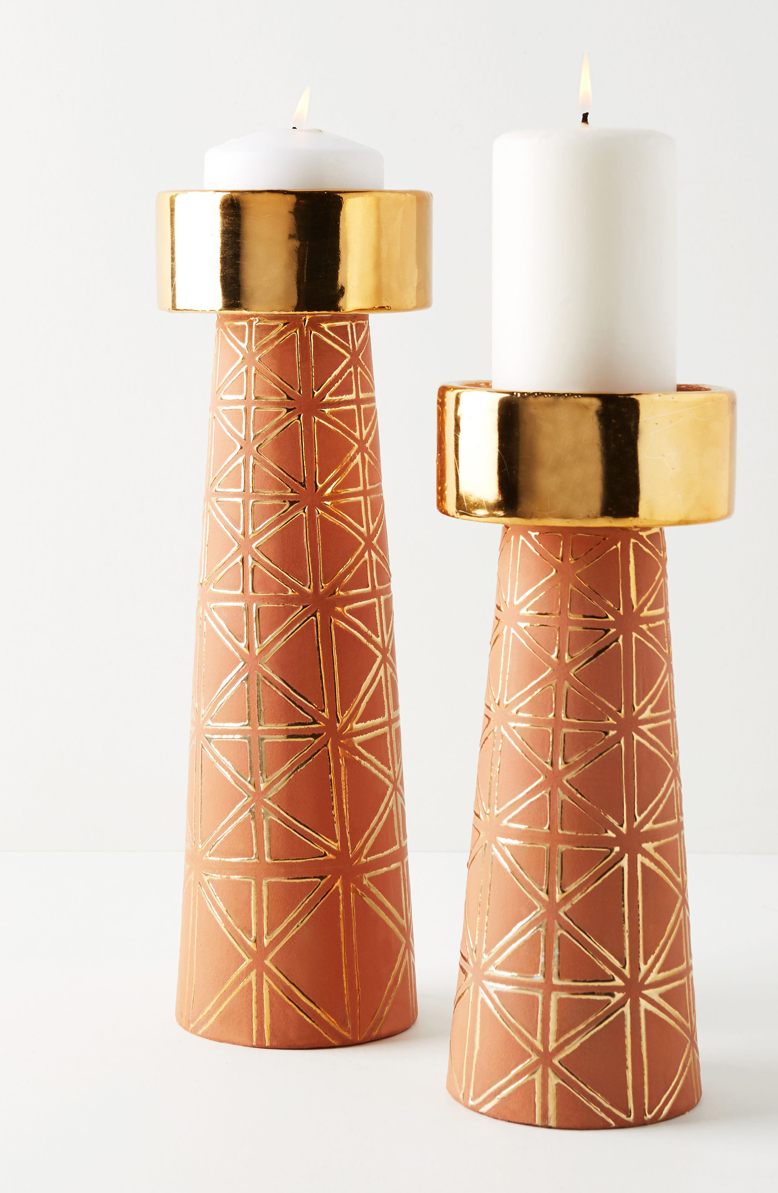 Geo Pillar Candleholder,                         Main,                         color, 200