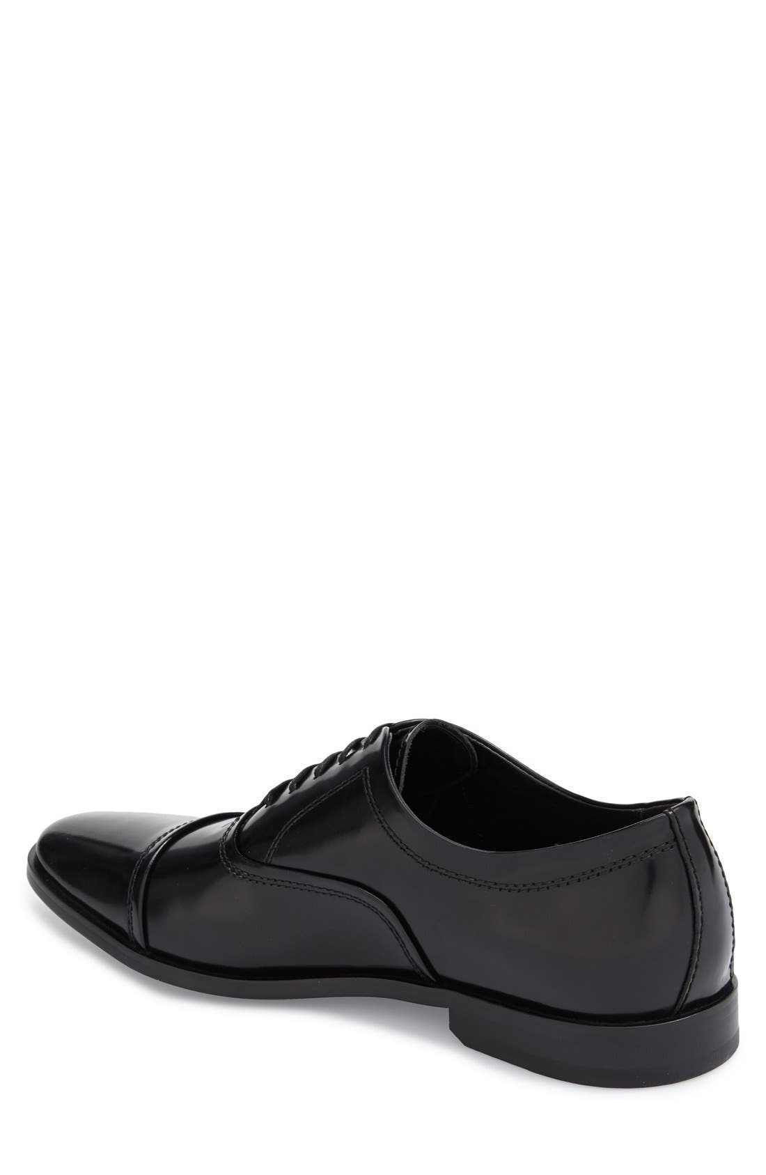 'Nino' Cap Toe Oxford,                             Alternate thumbnail 2, color,                             001