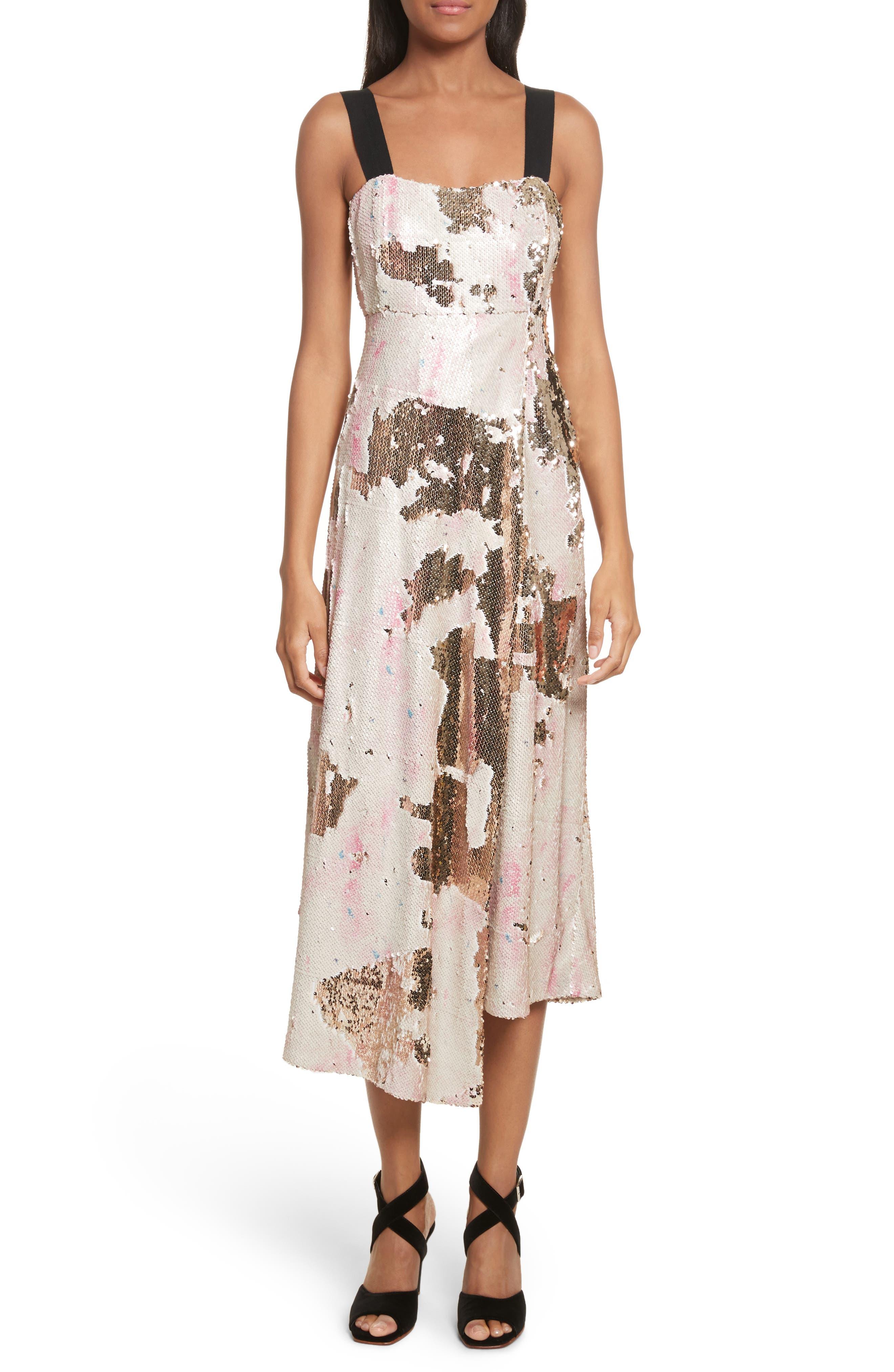 Slacken Sequined Dress,                             Main thumbnail 1, color,                             658