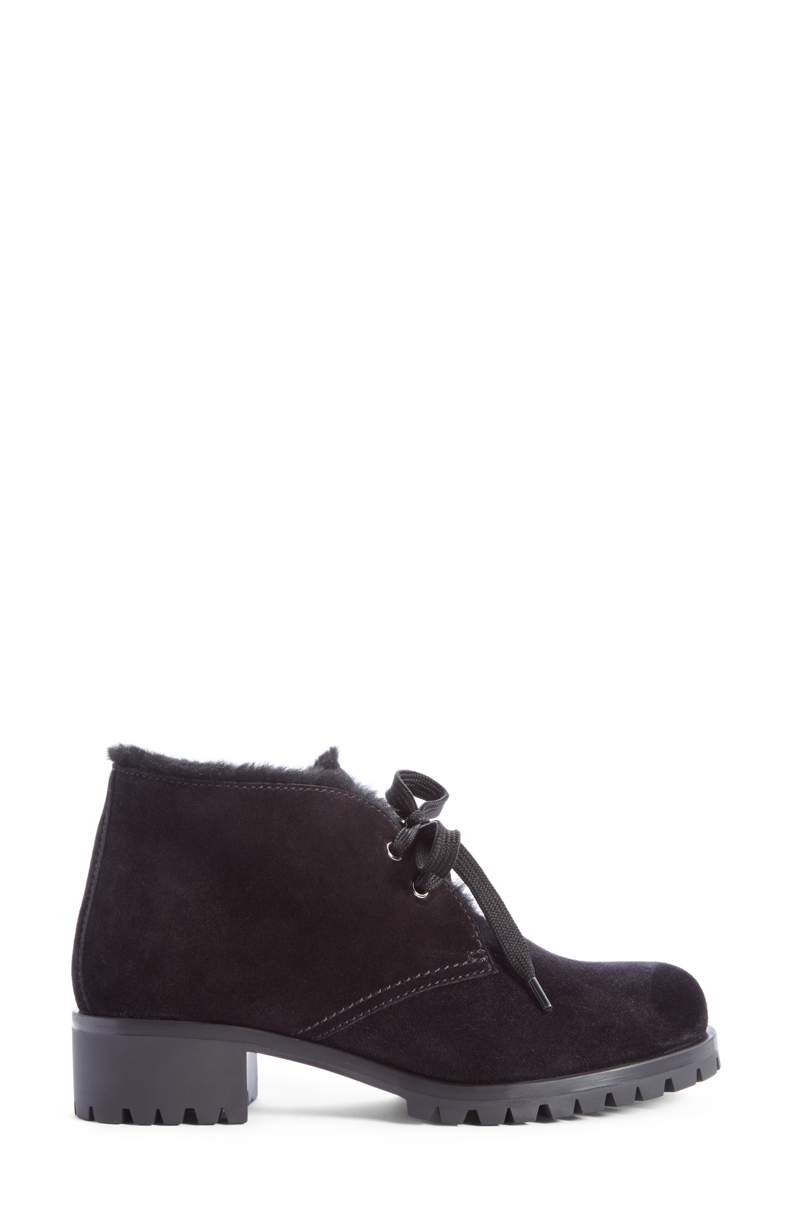 Genuine Shearling Lined Bootie,                             Alternate thumbnail 3, color,                             001
