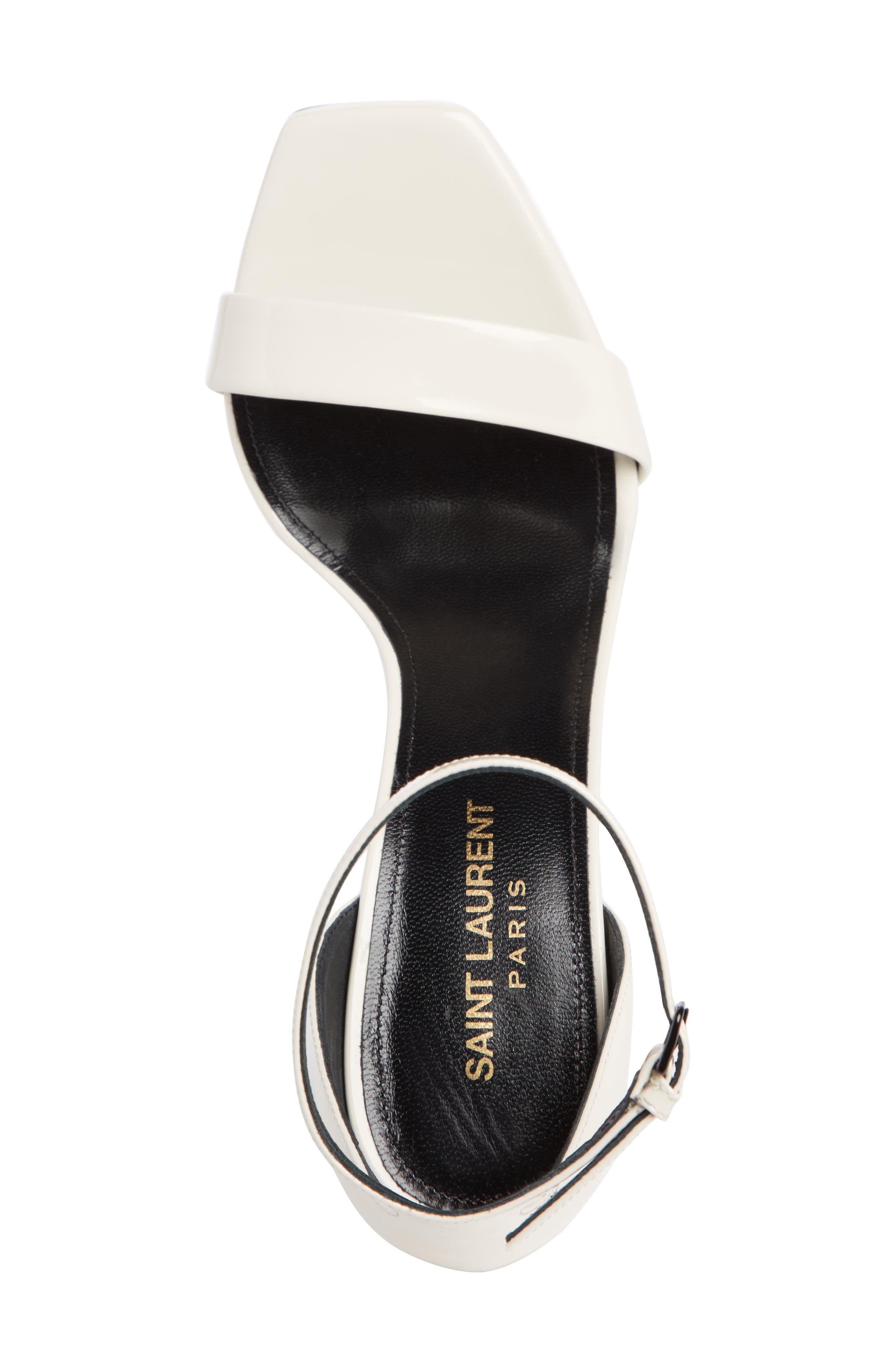 Amber Ankle Strap Sandal,                             Alternate thumbnail 4, color,                             LATTE