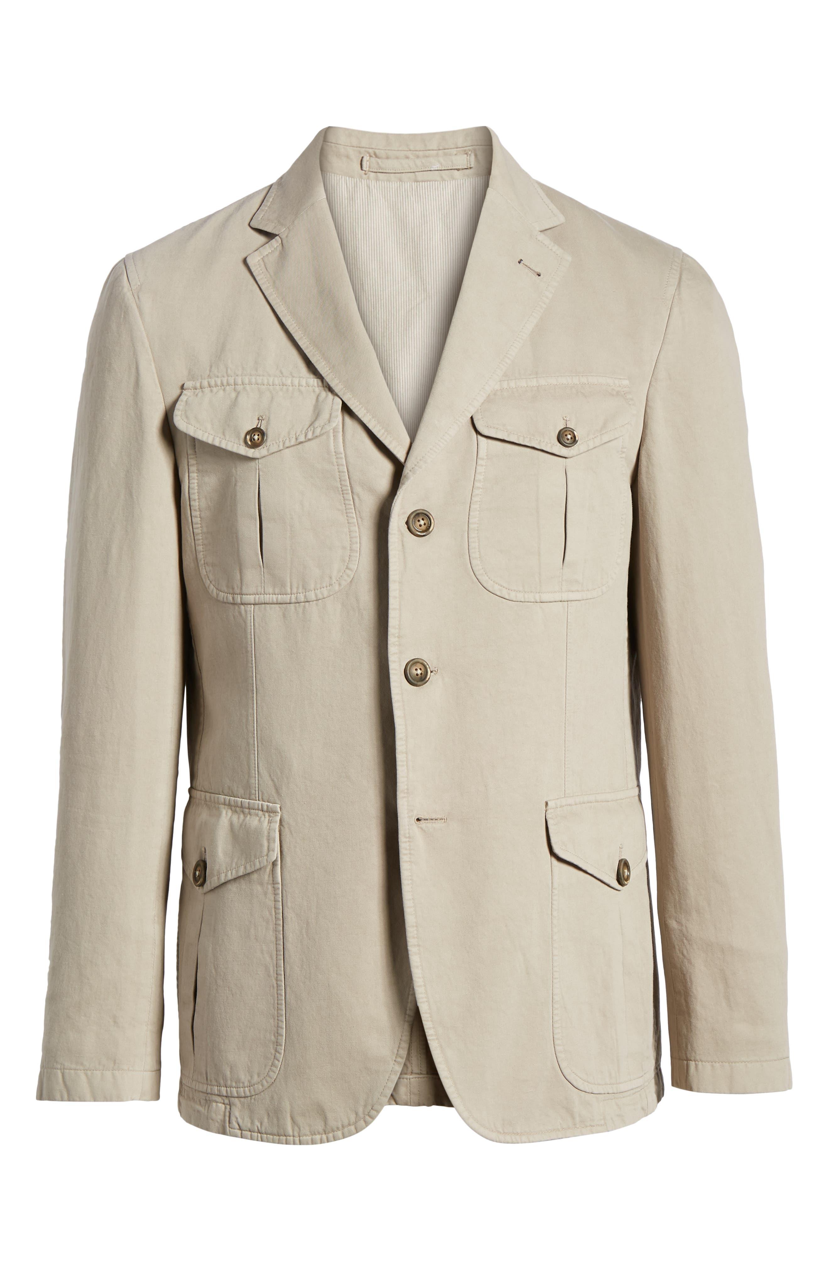 Cotton & Linen Safari Blazer,                             Alternate thumbnail 5, color,                             271