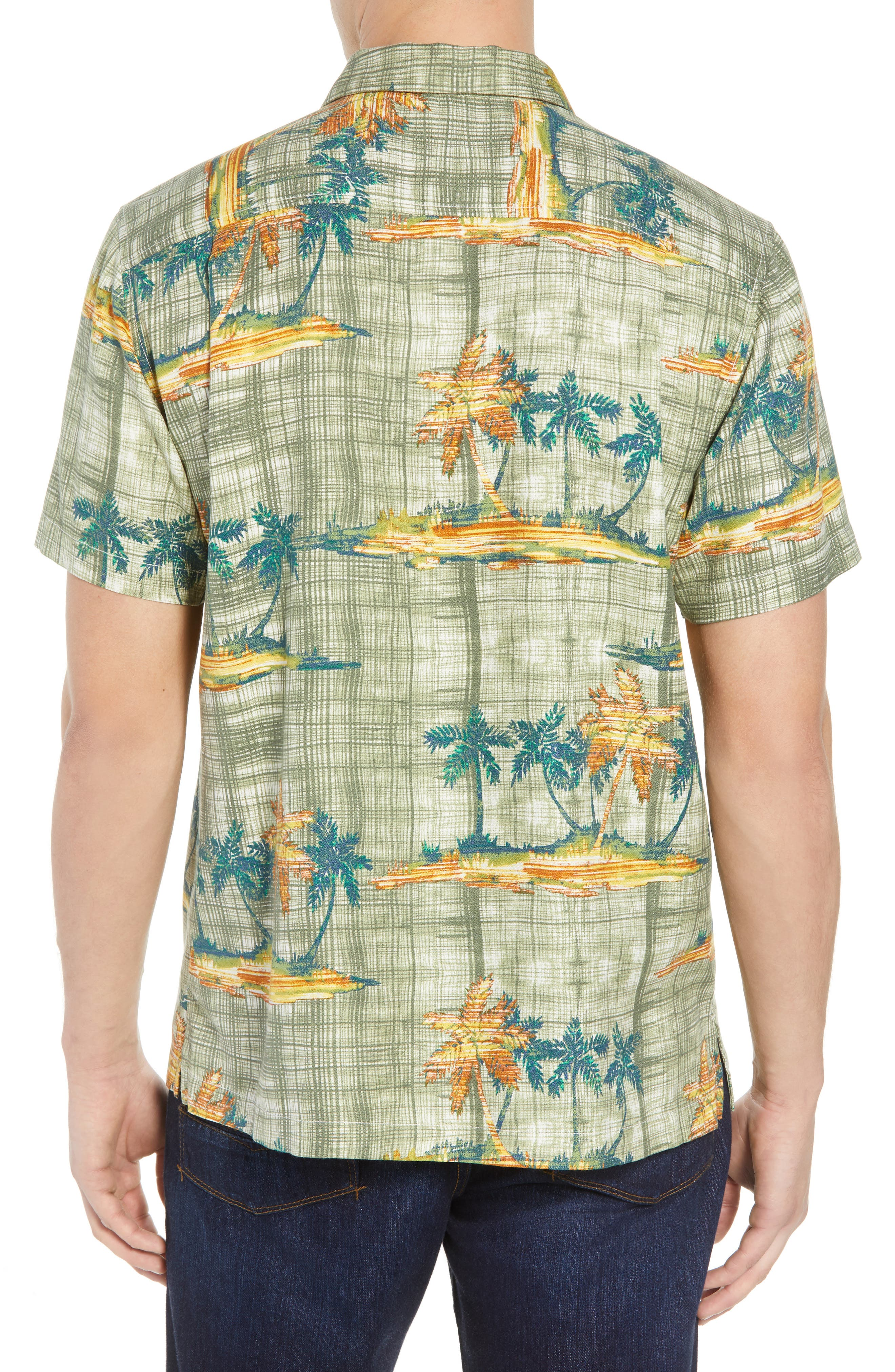 Zama Palms Silk Blend Camp Shirt,                             Alternate thumbnail 2, color,
