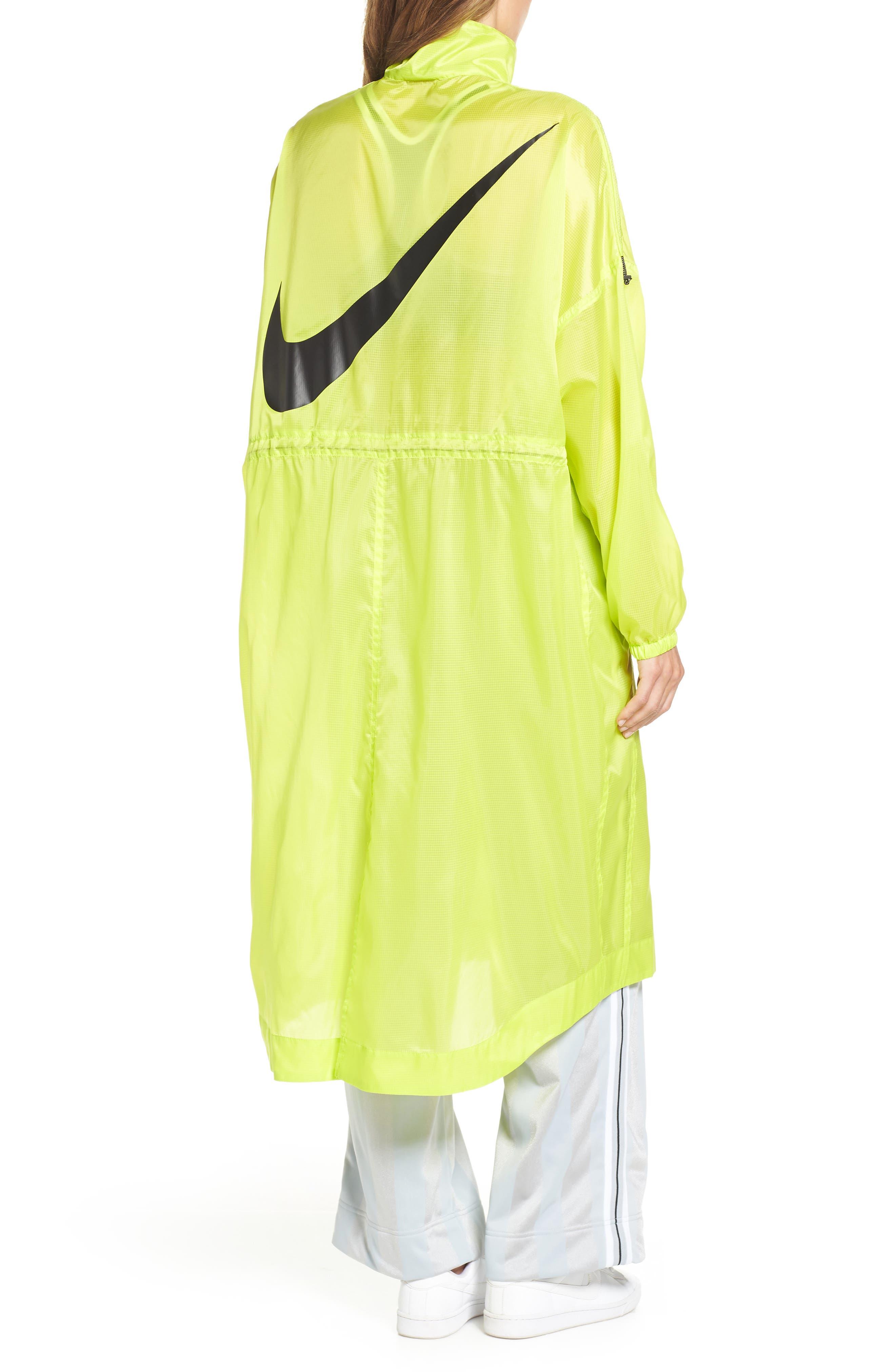 NIKE,                             Sportswear Women's Woven Jacket,                             Alternate thumbnail 2, color,                             CYBER/ BLACK
