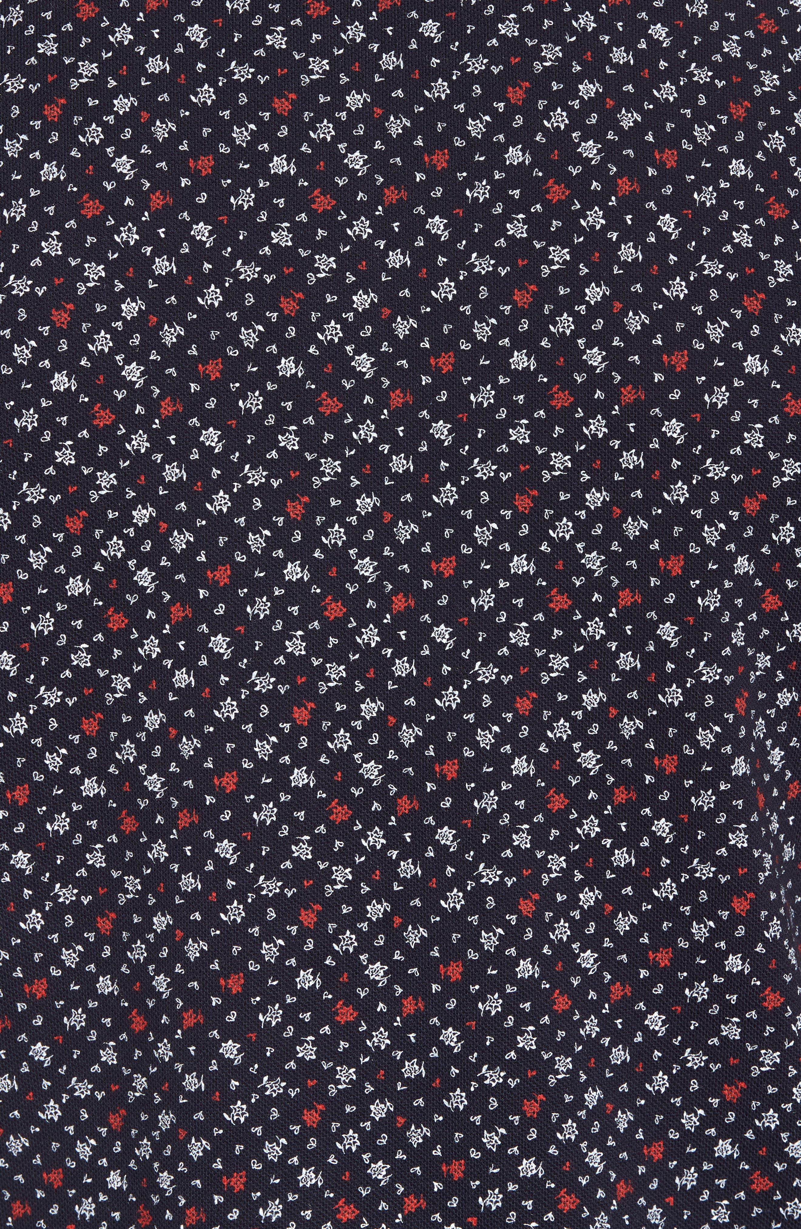 Micro Floral Polo,                             Alternate thumbnail 5, color,
