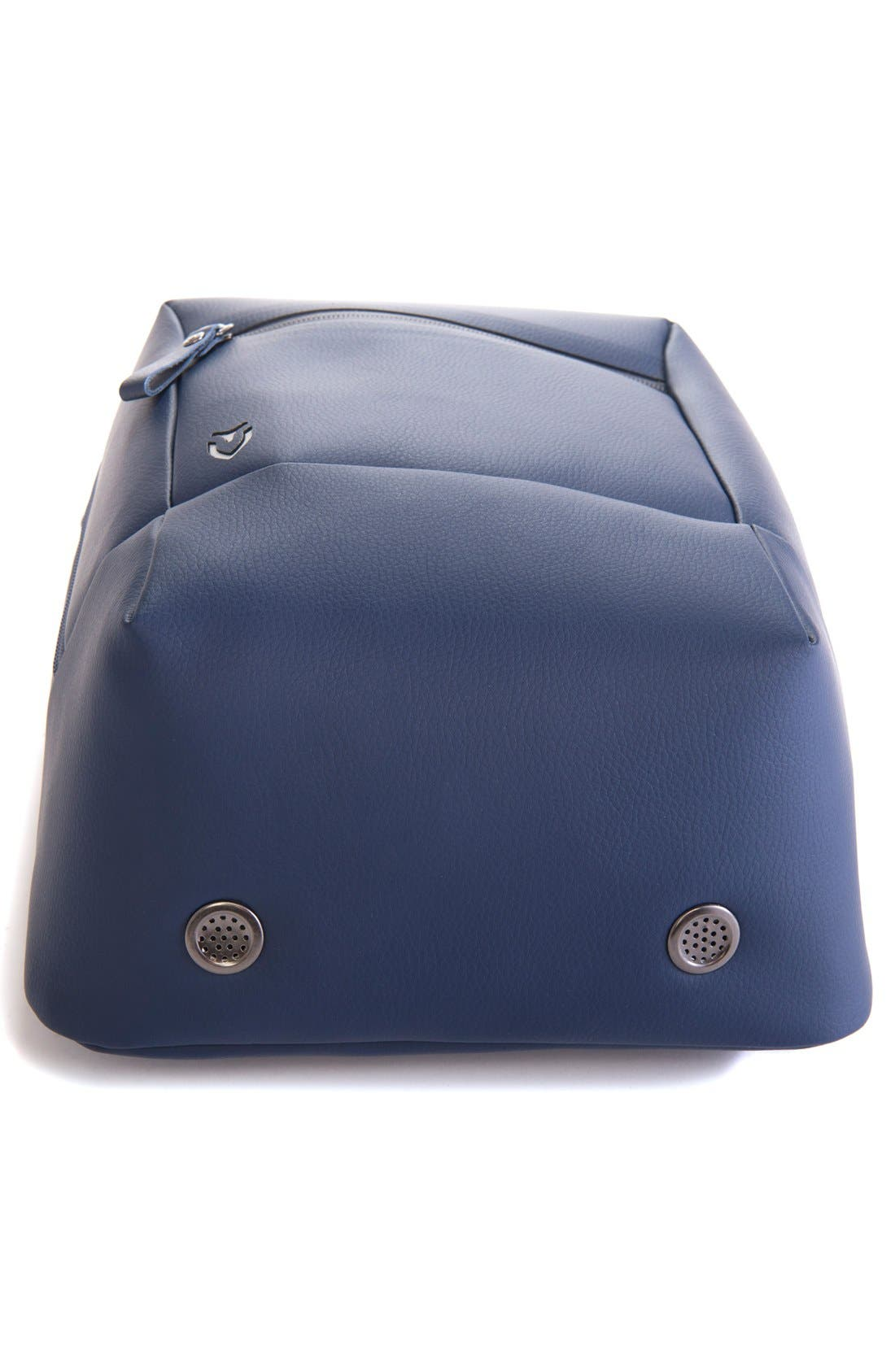 Pebbled Faux Leather Shoe Bag,                             Alternate thumbnail 5, color,                             PEBBLED NAVY