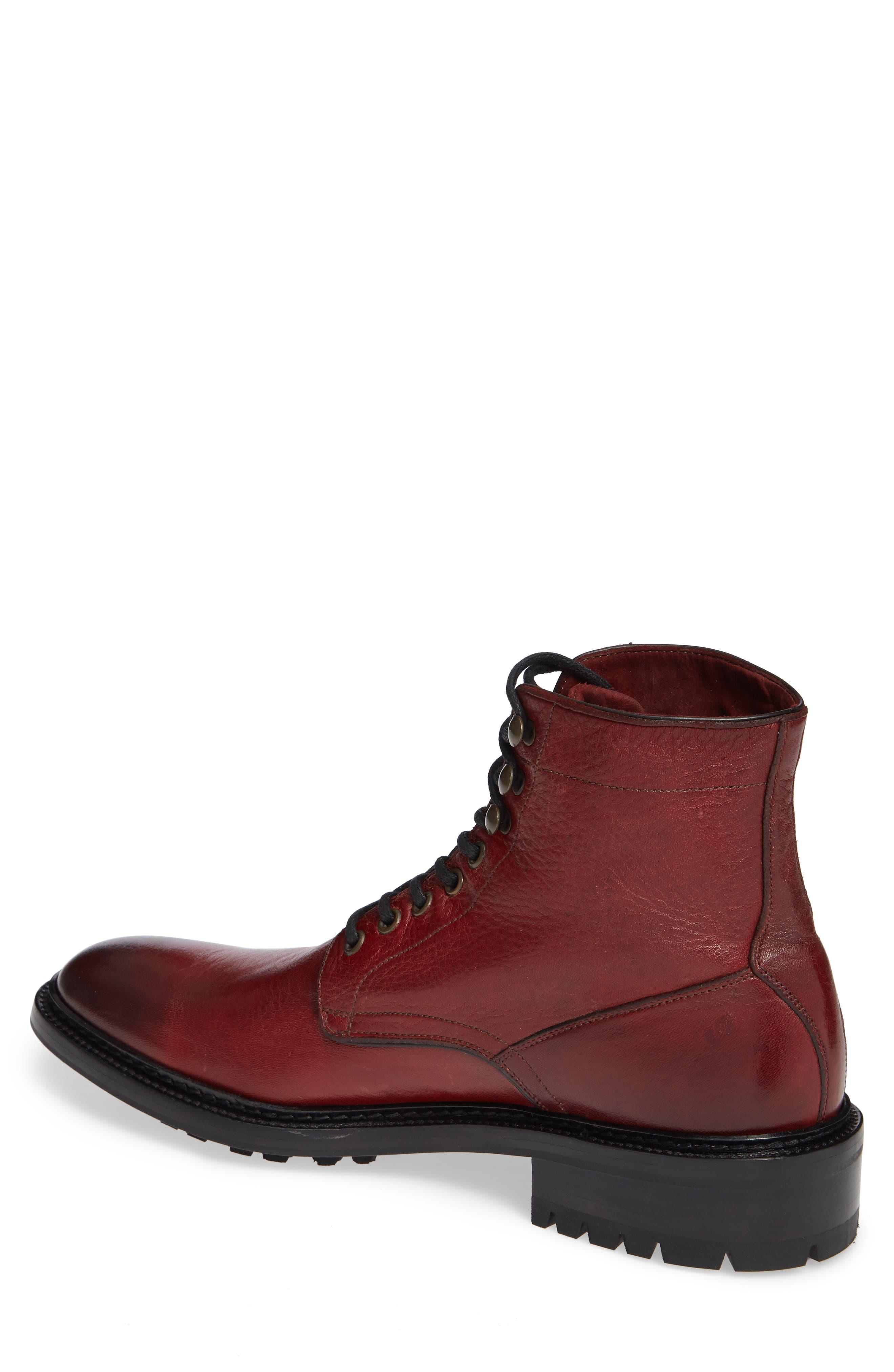 Greyson Plain Toe Boot,                             Alternate thumbnail 2, color,                             BURGUNDY