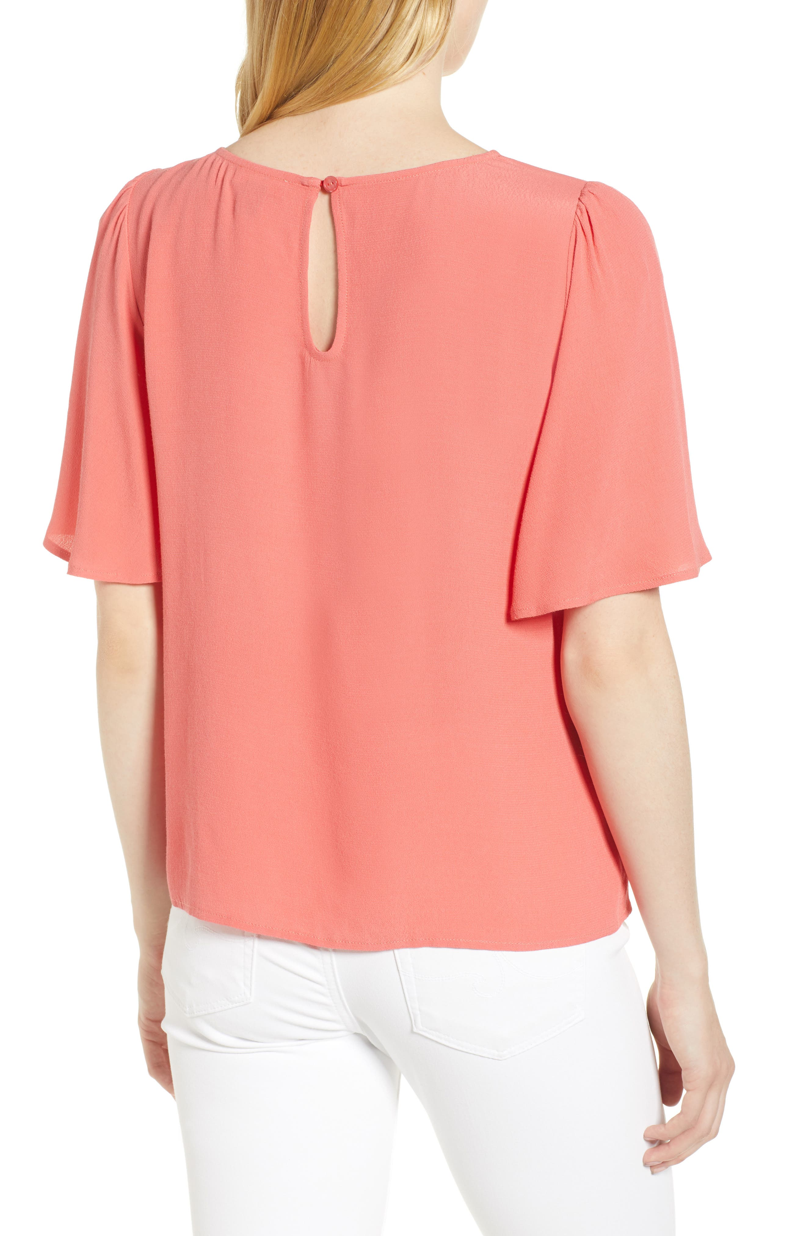 Ruffle Tie Front Top,                             Alternate thumbnail 9, color,