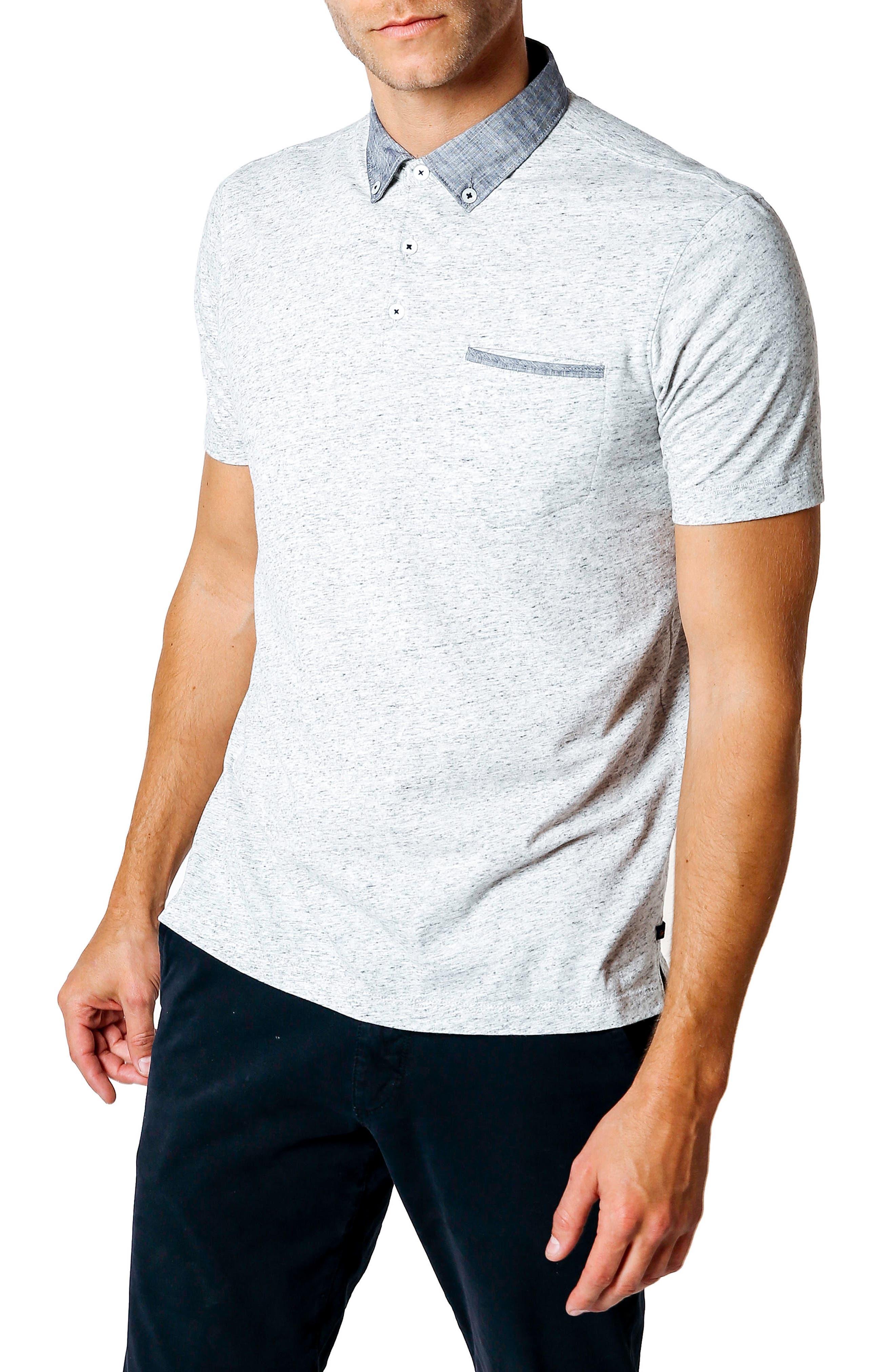 GOOD MAN BRAND,                             Trim Fit Polo Shirt,                             Main thumbnail 1, color,                             030