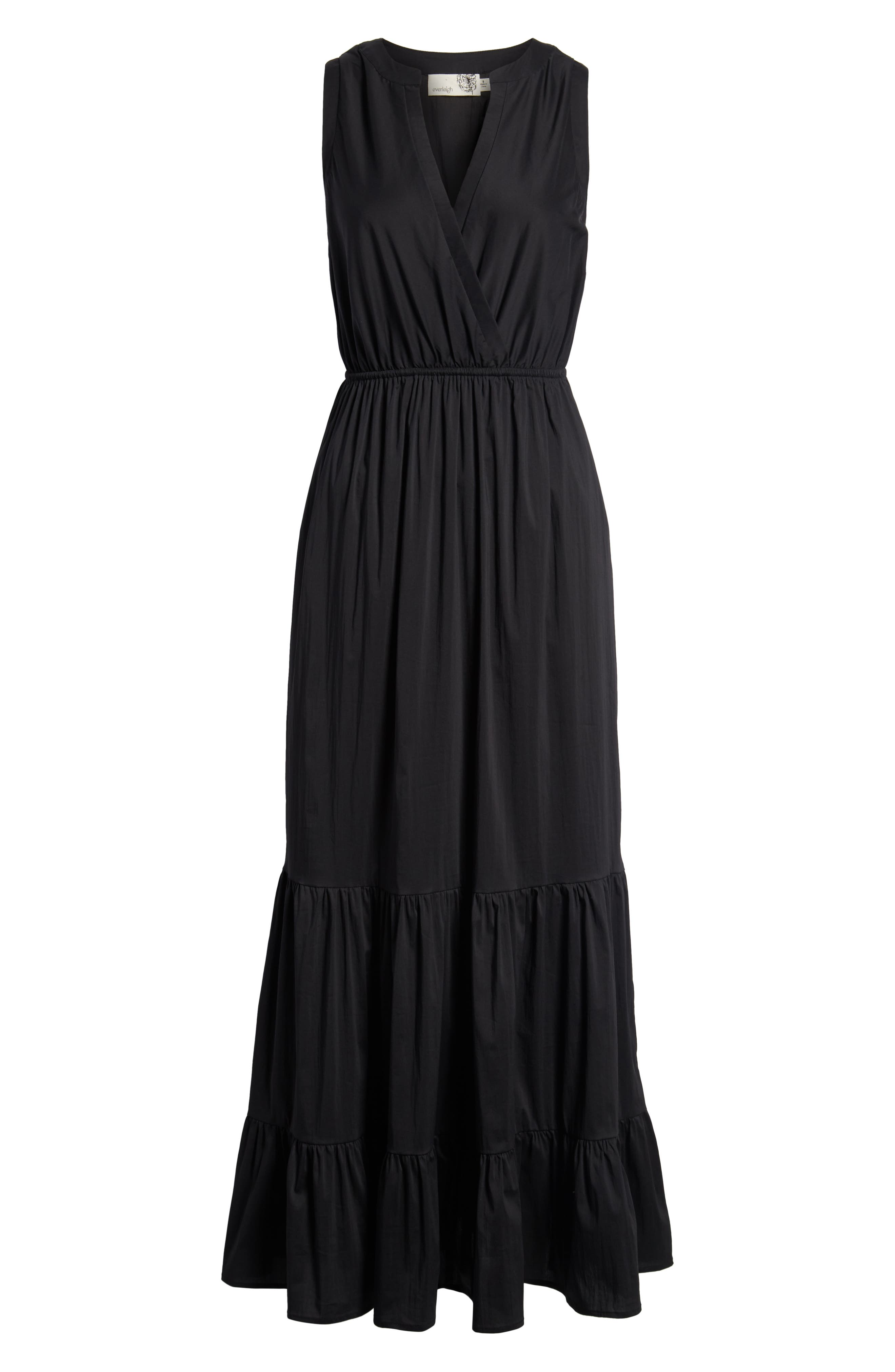 Tiered Maxi Dress,                             Alternate thumbnail 7, color,                             001