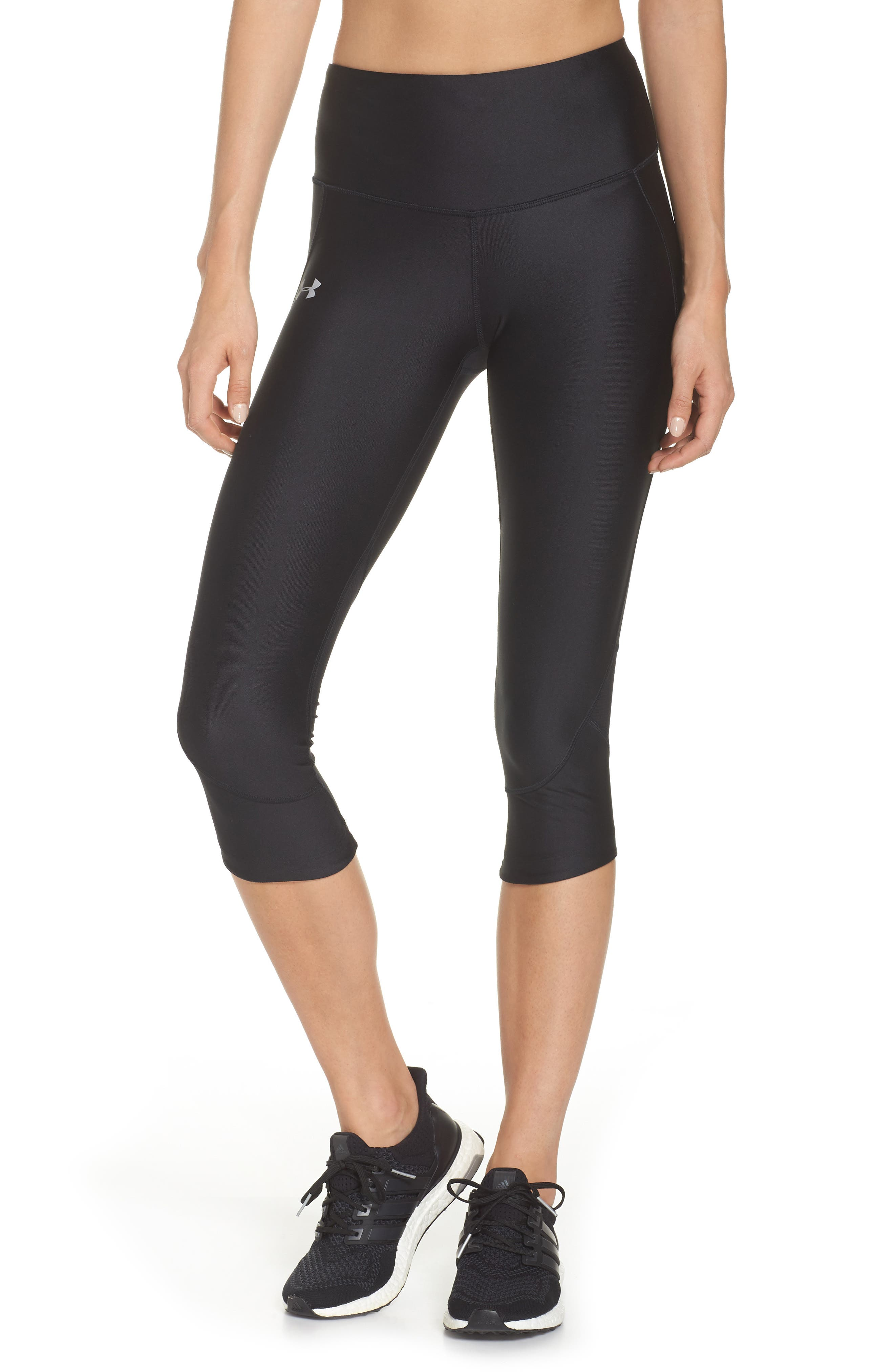 Fly Fast HeatGear<sup>®</sup> Capri Leggings,                             Main thumbnail 1, color,                             001