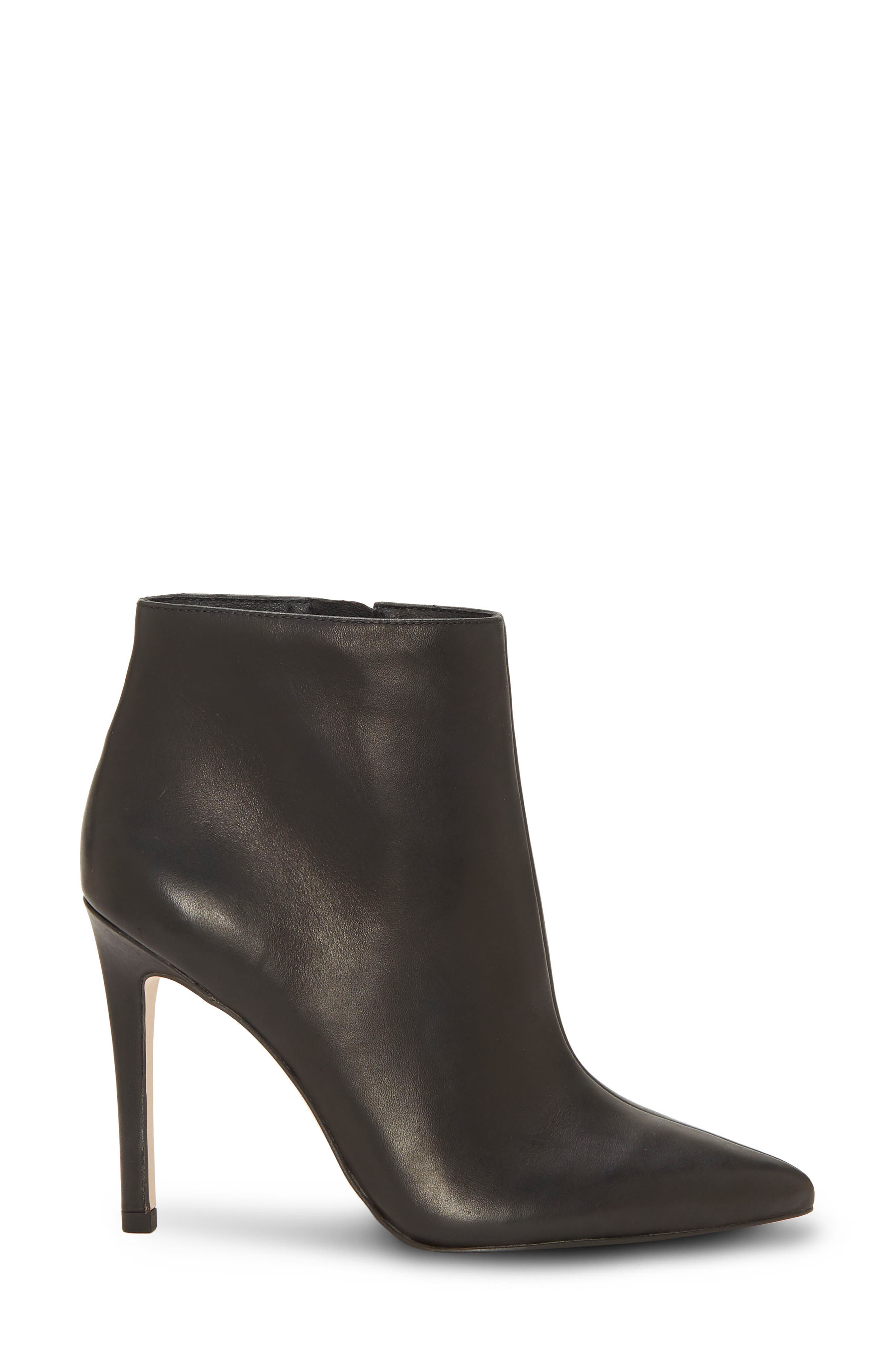 Perci Bootie,                             Alternate thumbnail 3, color,                             BLACK LEATHER
