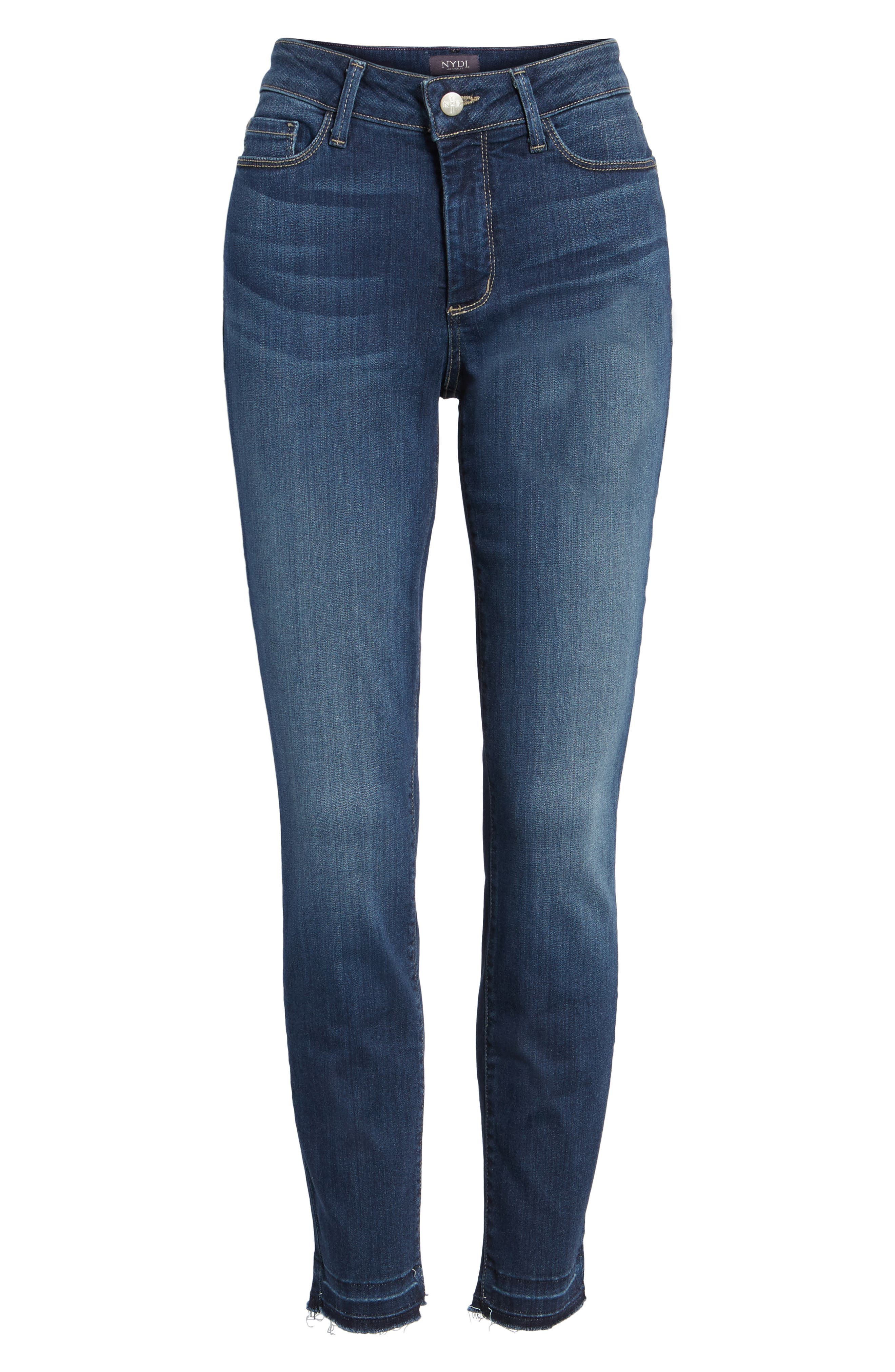 Ami Release Hem Stretch Skinny Jeans,                             Alternate thumbnail 7, color,                             428