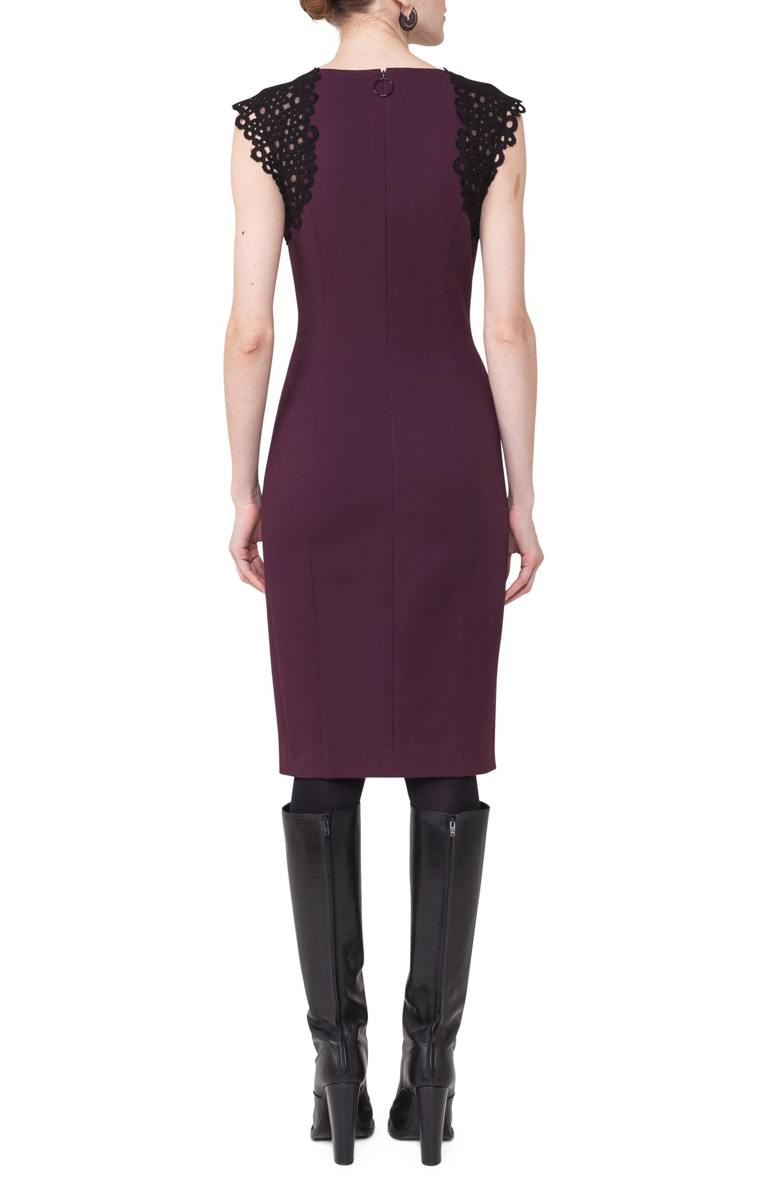Lace Trim Sheath Dress,                             Alternate thumbnail 2, color,                             930