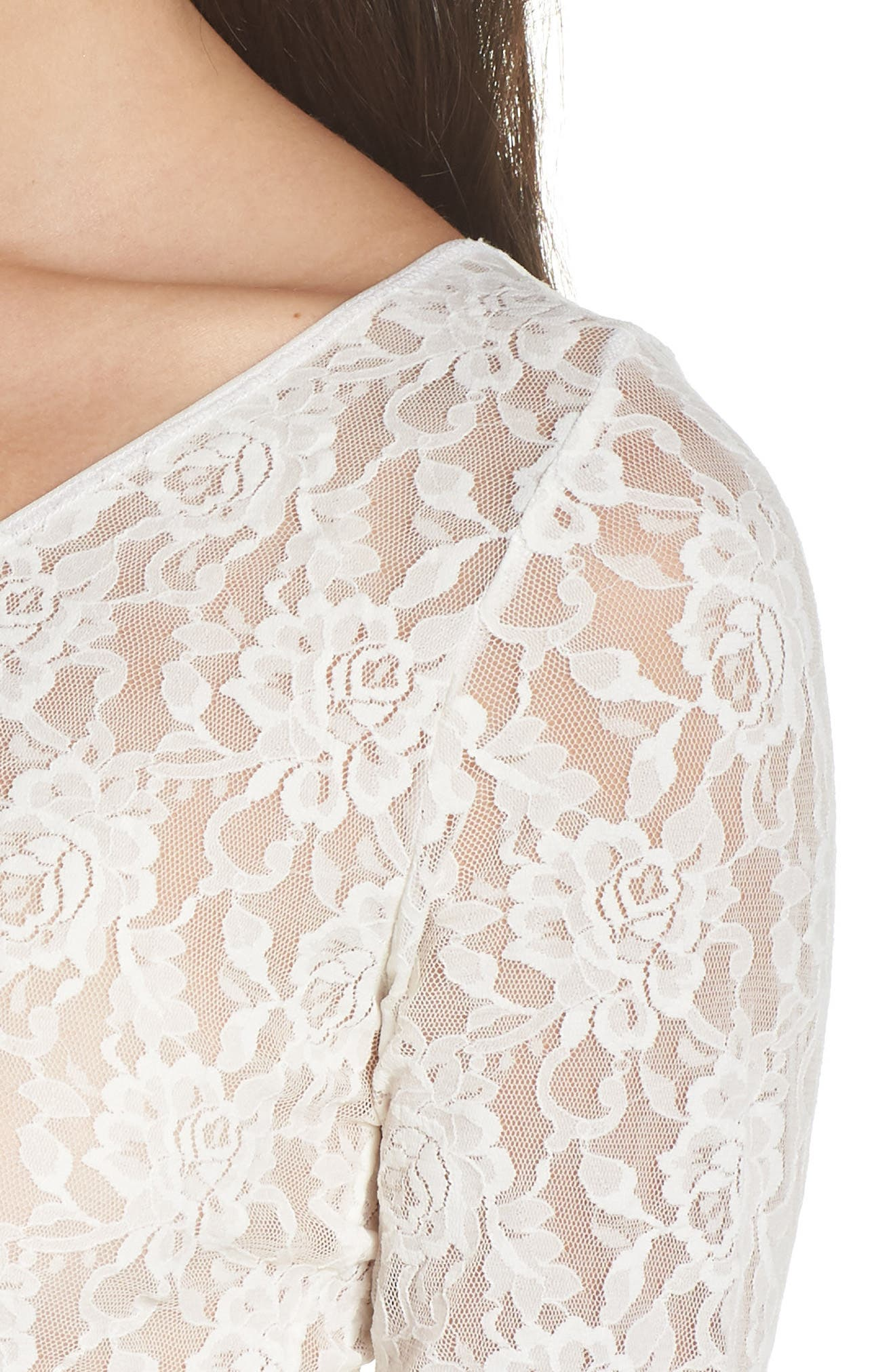 Signature Lace 2-Way Top,                             Alternate thumbnail 5, color,                             MARSHMALLOW