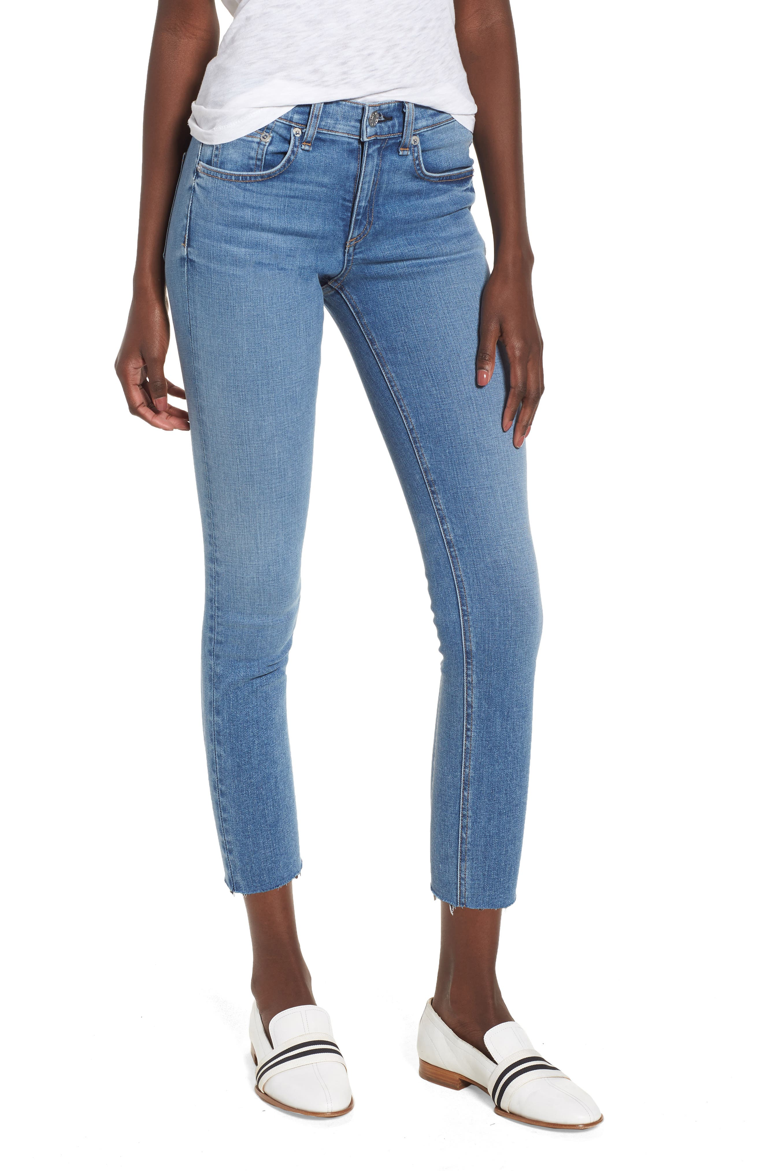 Crop Skinny Jeans,                             Main thumbnail 1, color,                             424