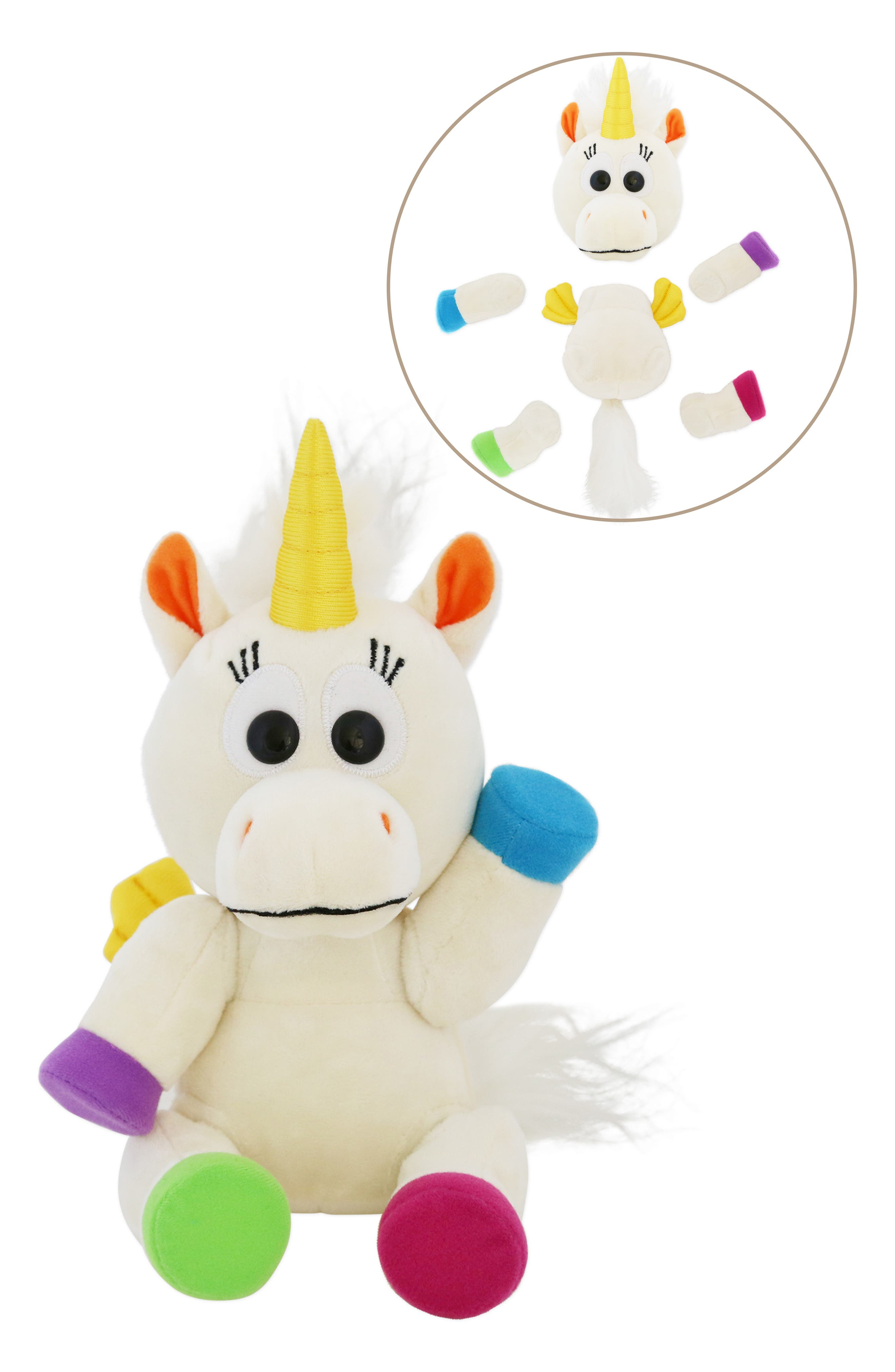 Girls Animoodles Iris Unicorn Magnetic Stuffed Animal