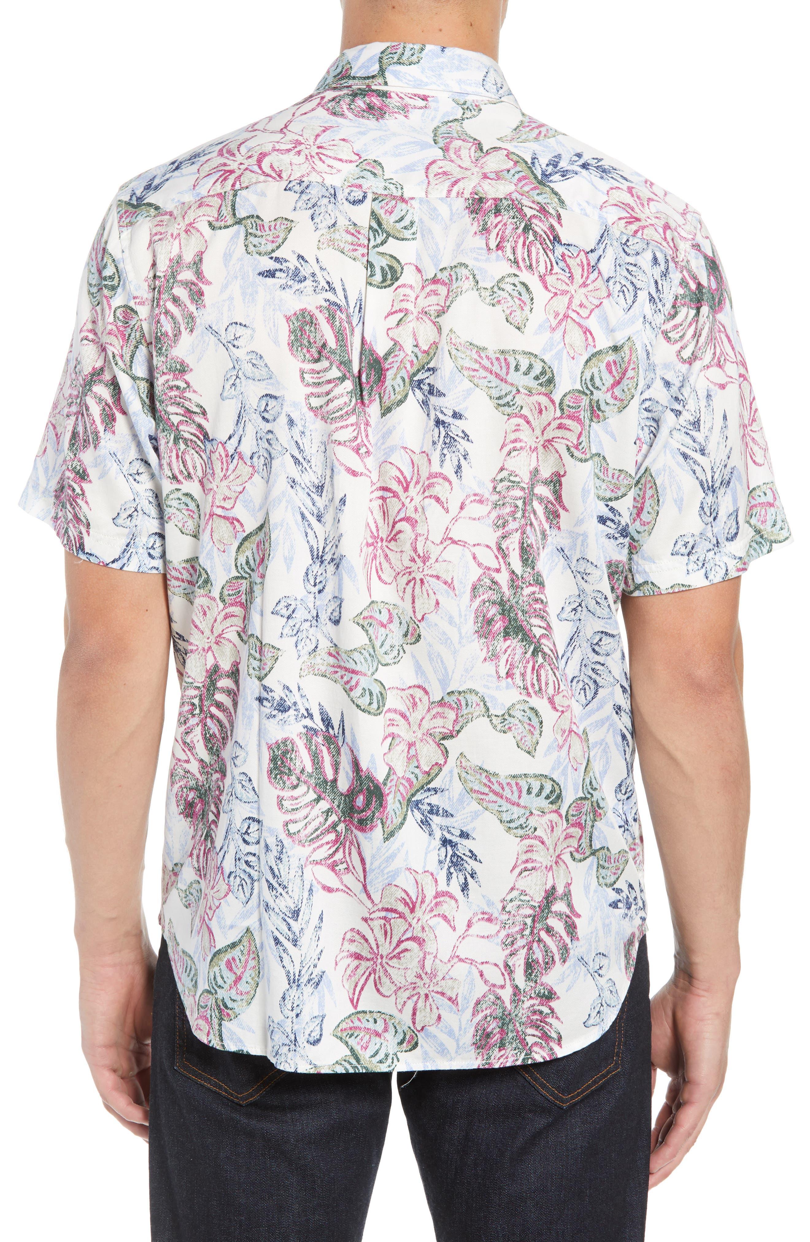 Diego Fronds Jacquard Short Shirt,                             Alternate thumbnail 2, color,                             200