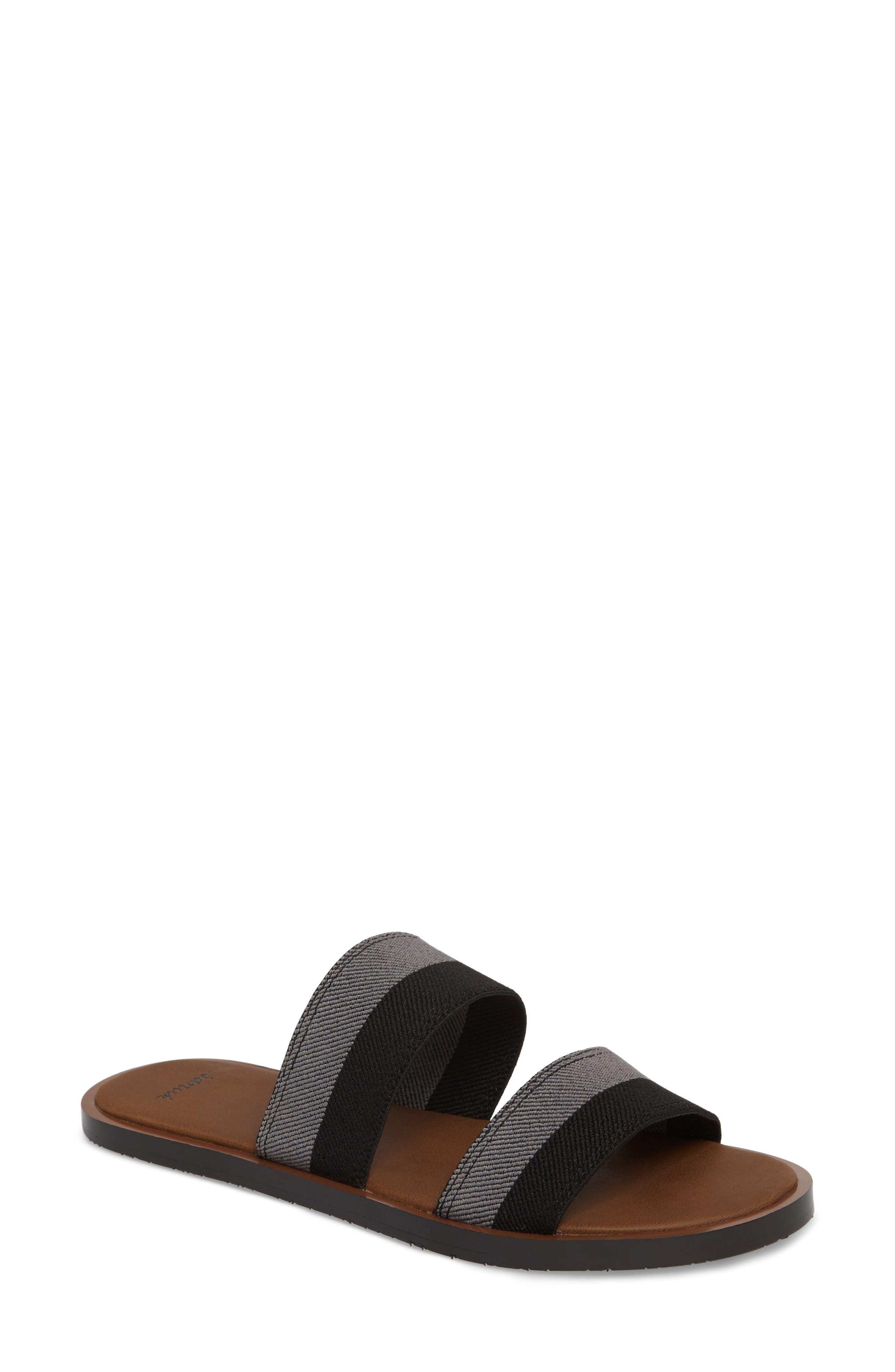 Yoga Gora Gora Slide Sandal,                             Main thumbnail 1, color,                             BLACK/ CHARCOAL