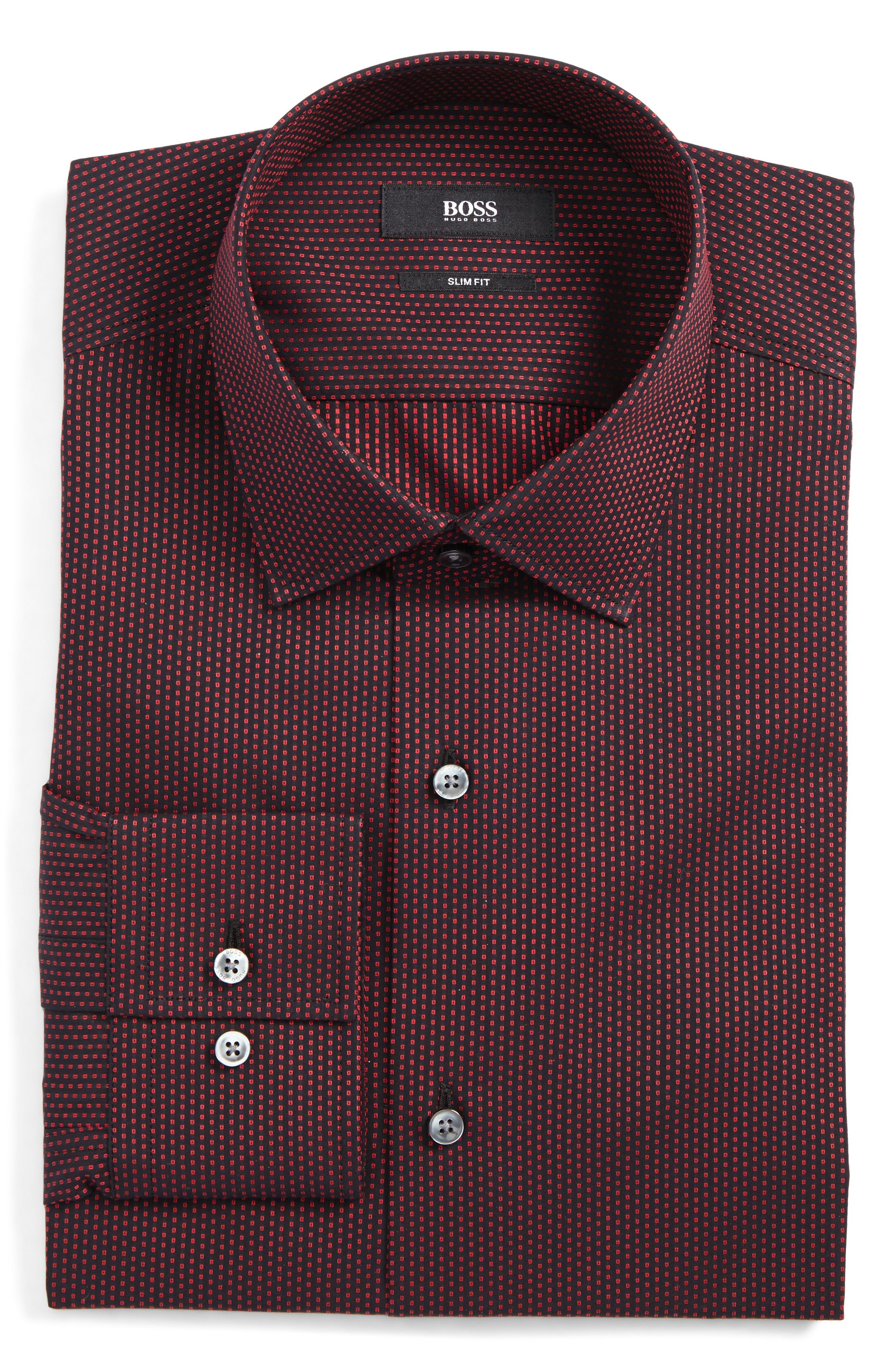 Jenno Slim Fit Print Dress Shirt,                             Main thumbnail 3, color,