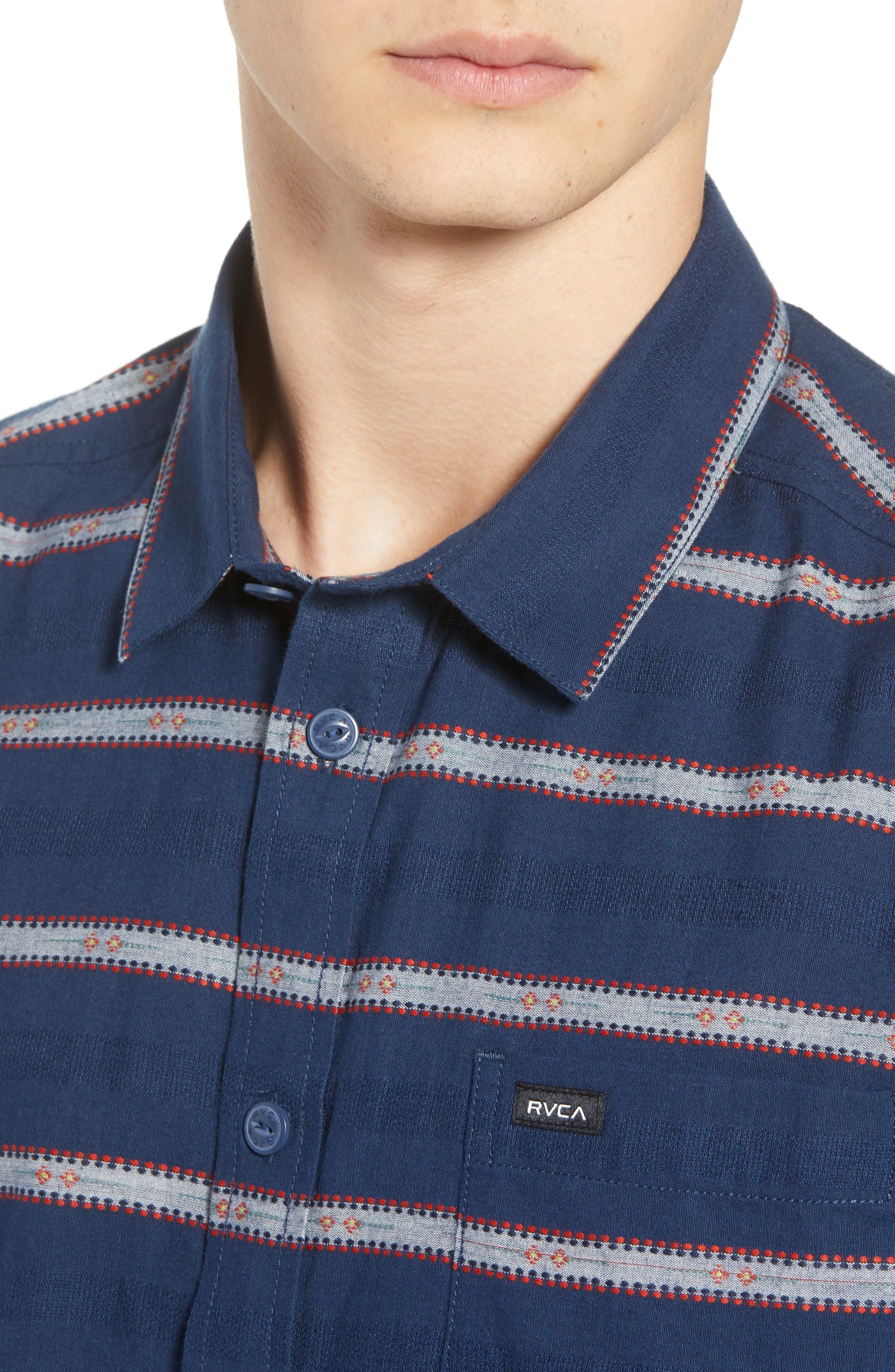Outer Sunset Woven Shirt,                             Alternate thumbnail 4, color,                             SEATTLE BLUE