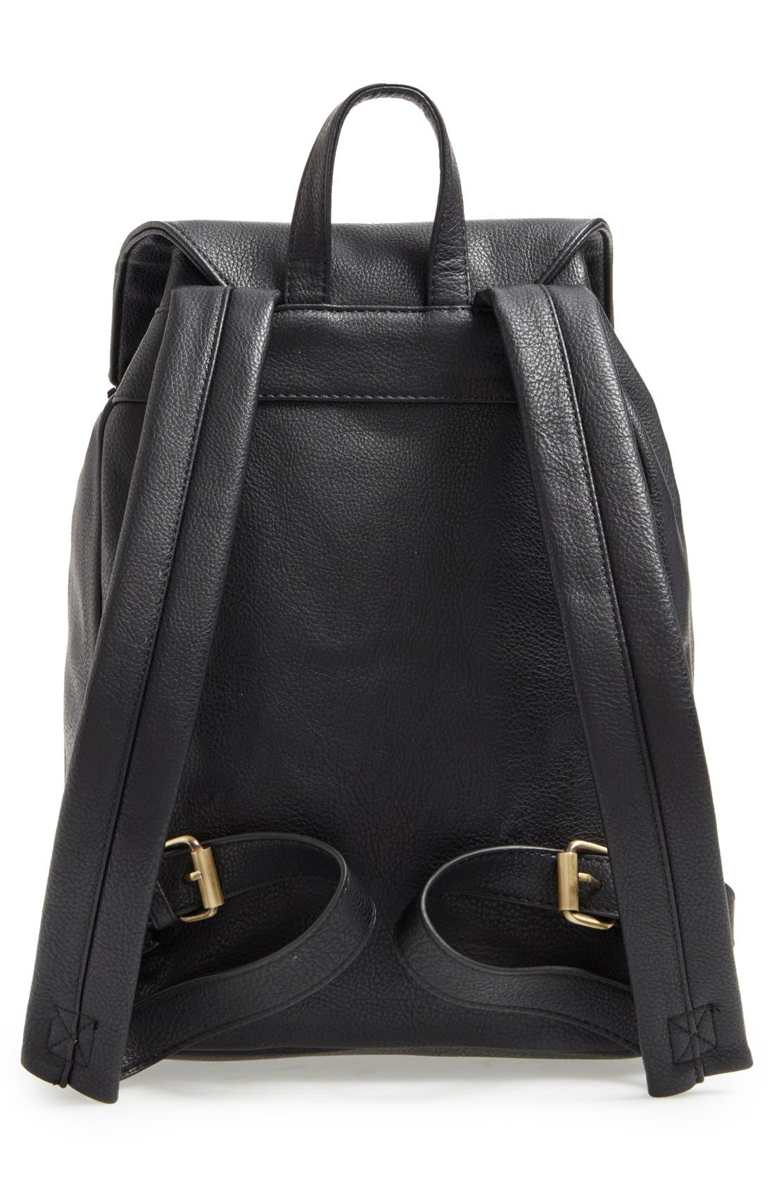 'Hartley' Faux Leather Backpack,                             Alternate thumbnail 6, color,                             001